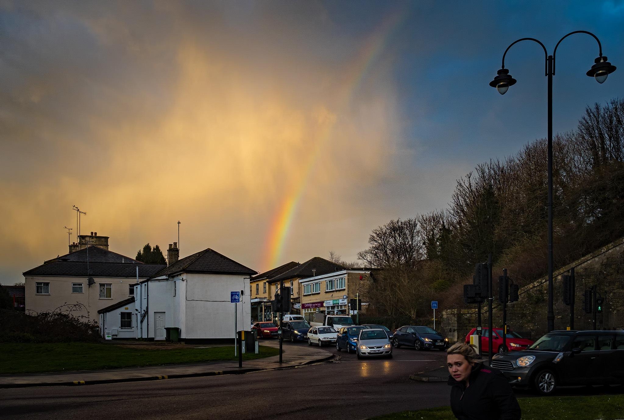 Rainbow over Chippenham by DavidNorfolk
