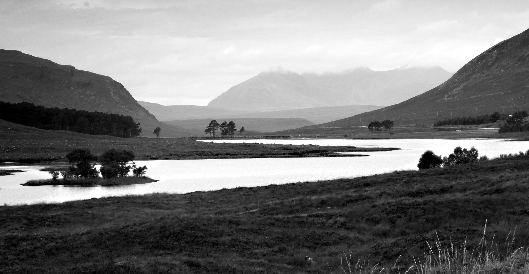 loch trees and island by WhiteArtPhotography