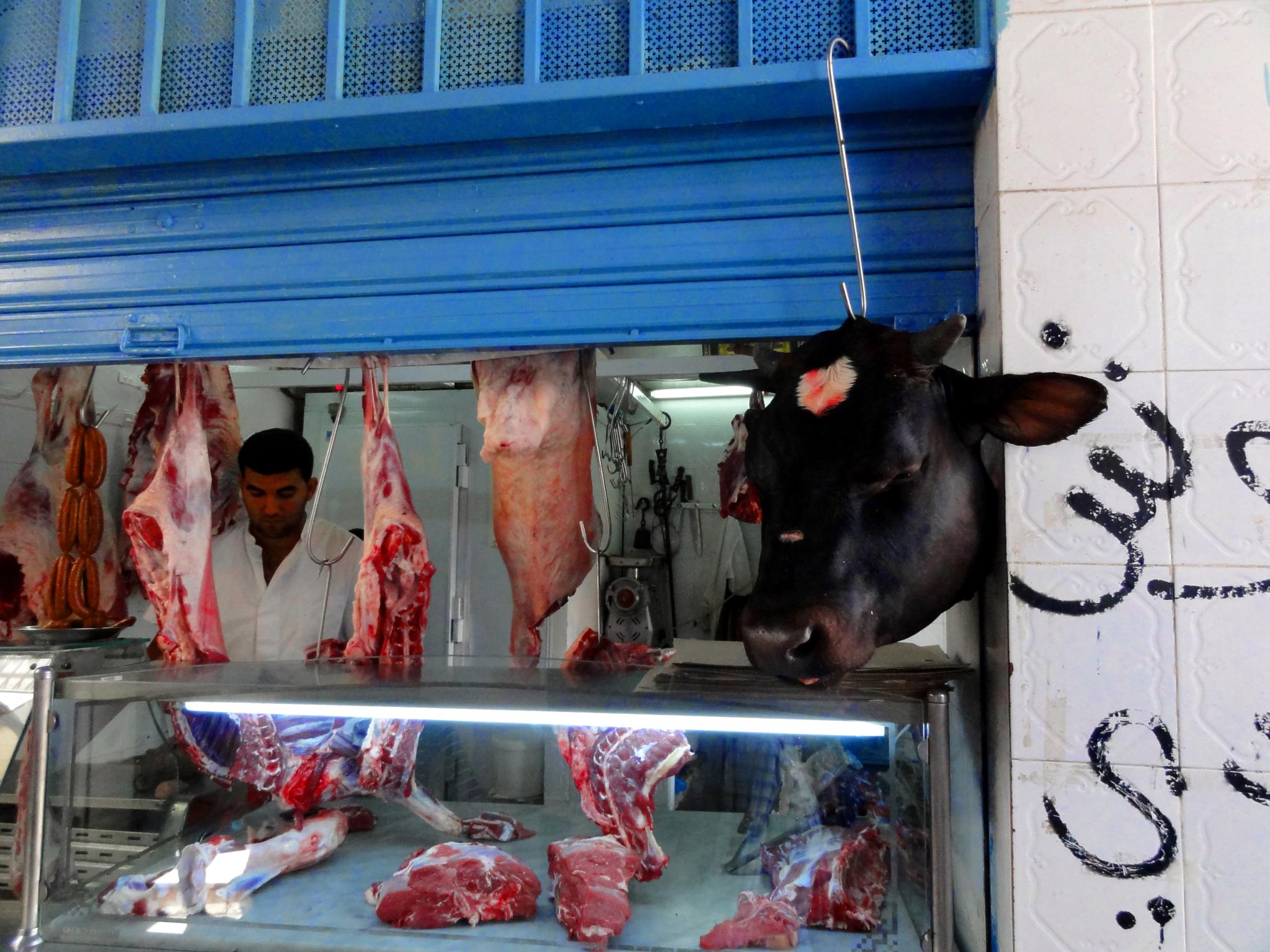 Butcher in Tunisia by WhiteArtPhotography