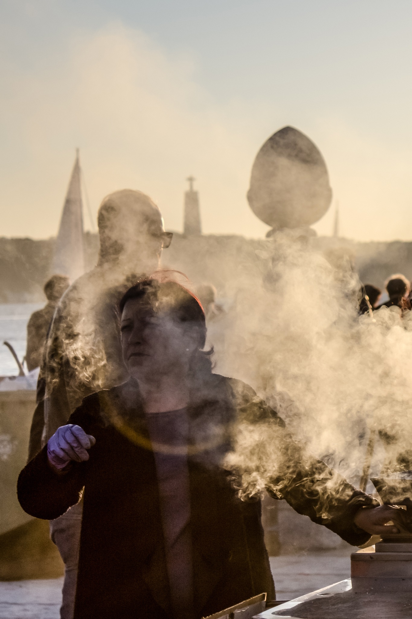 Roasted chestnut smoke in Lisbon I by Carolina Cardoso