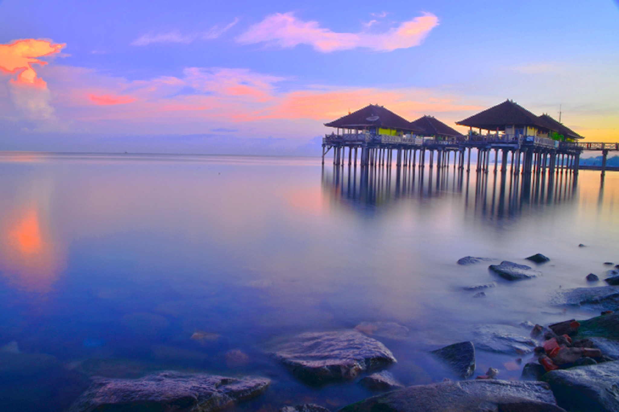 early morning at buleleng harbour by dewaputra