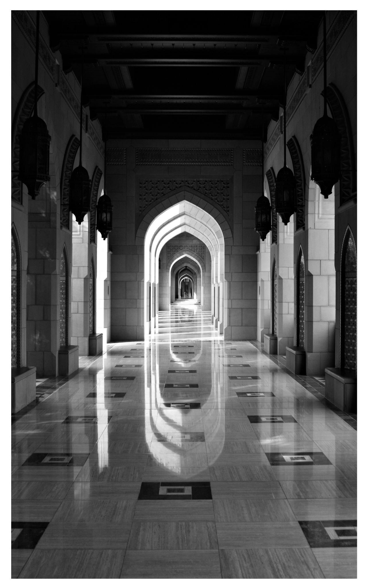 Grand Mosque Hallway by jao.abenoja