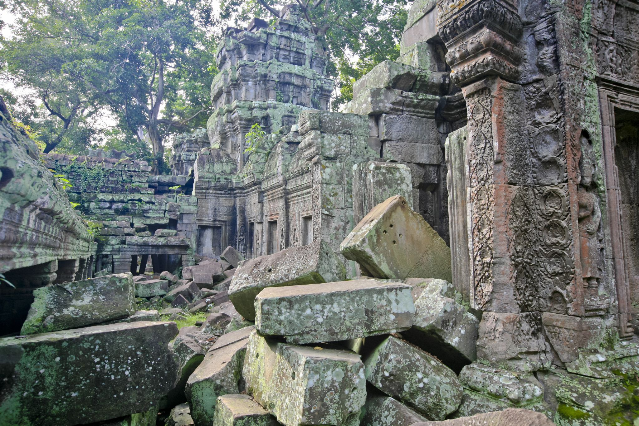 The ruins of Ta Prohm by Victor Kam