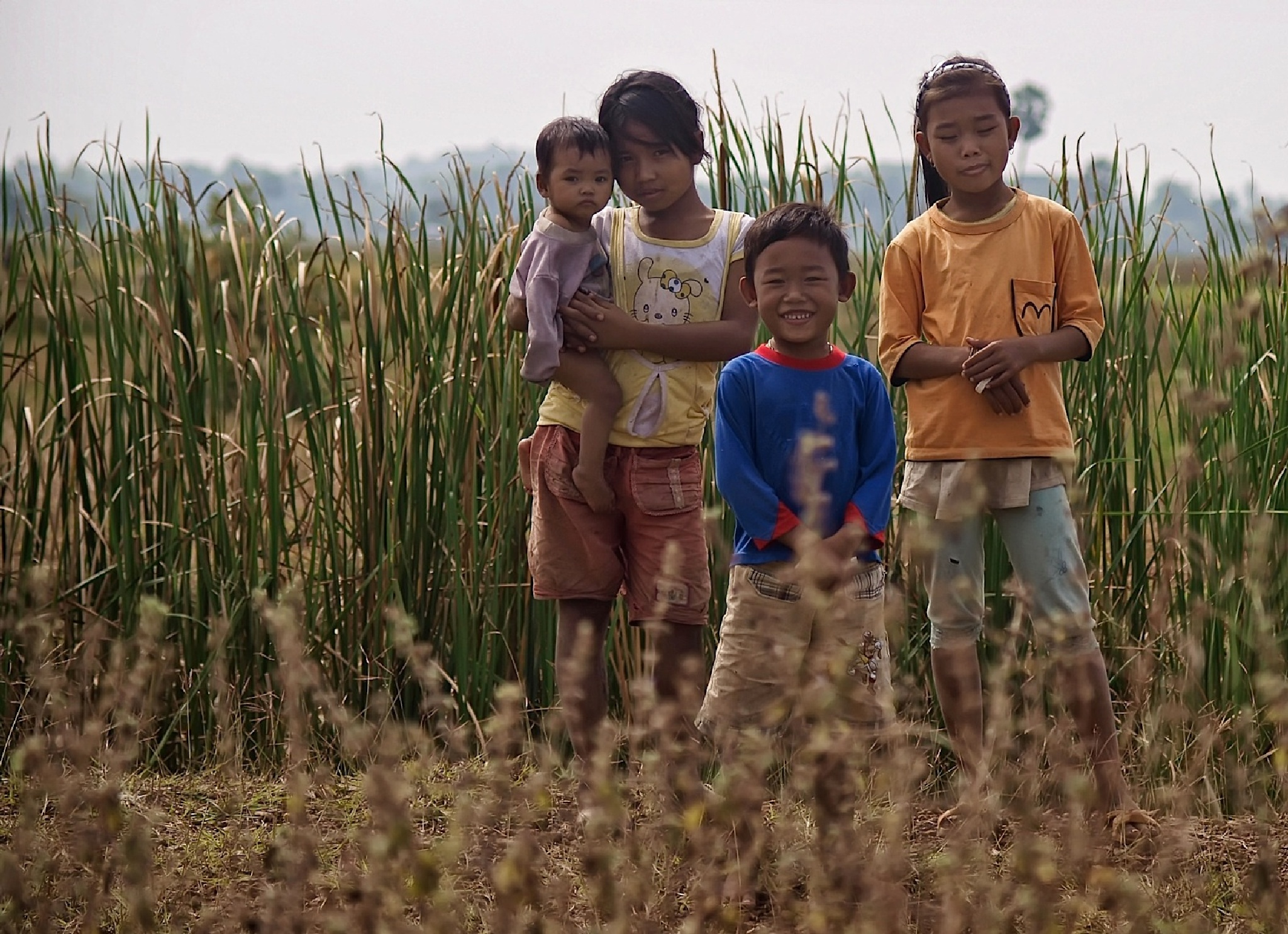Children from Don Khong Island by Zdenek Sindelar