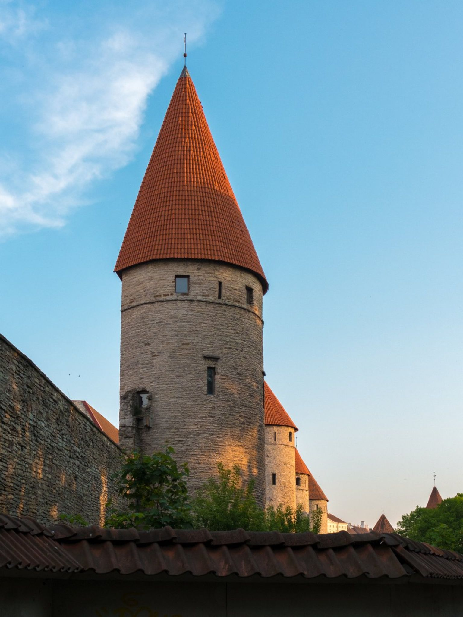 Tallinn, Estonia City Wall and Guard Towers by erikcoxphotography