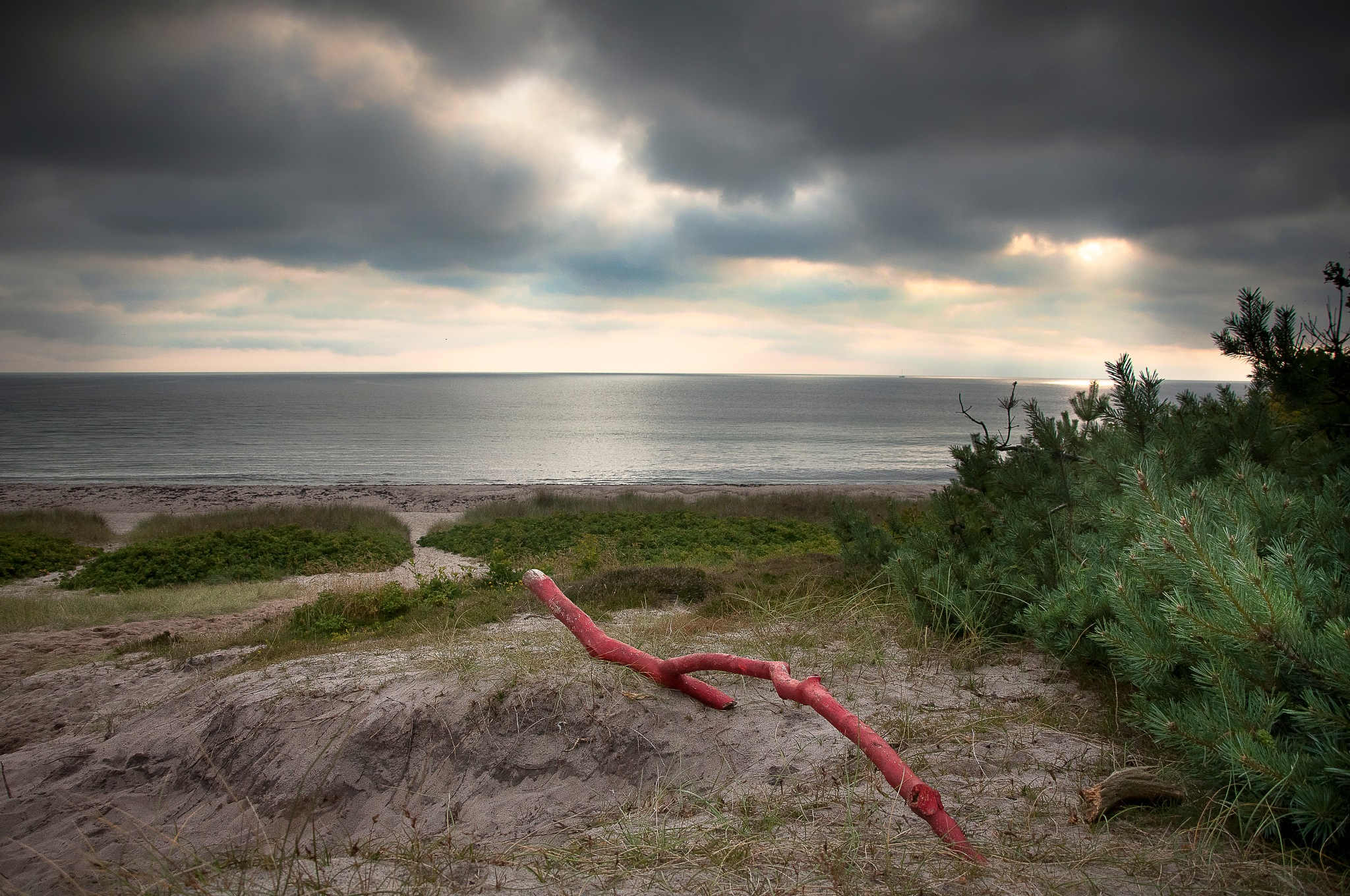 Red stick by Sonja Pixels