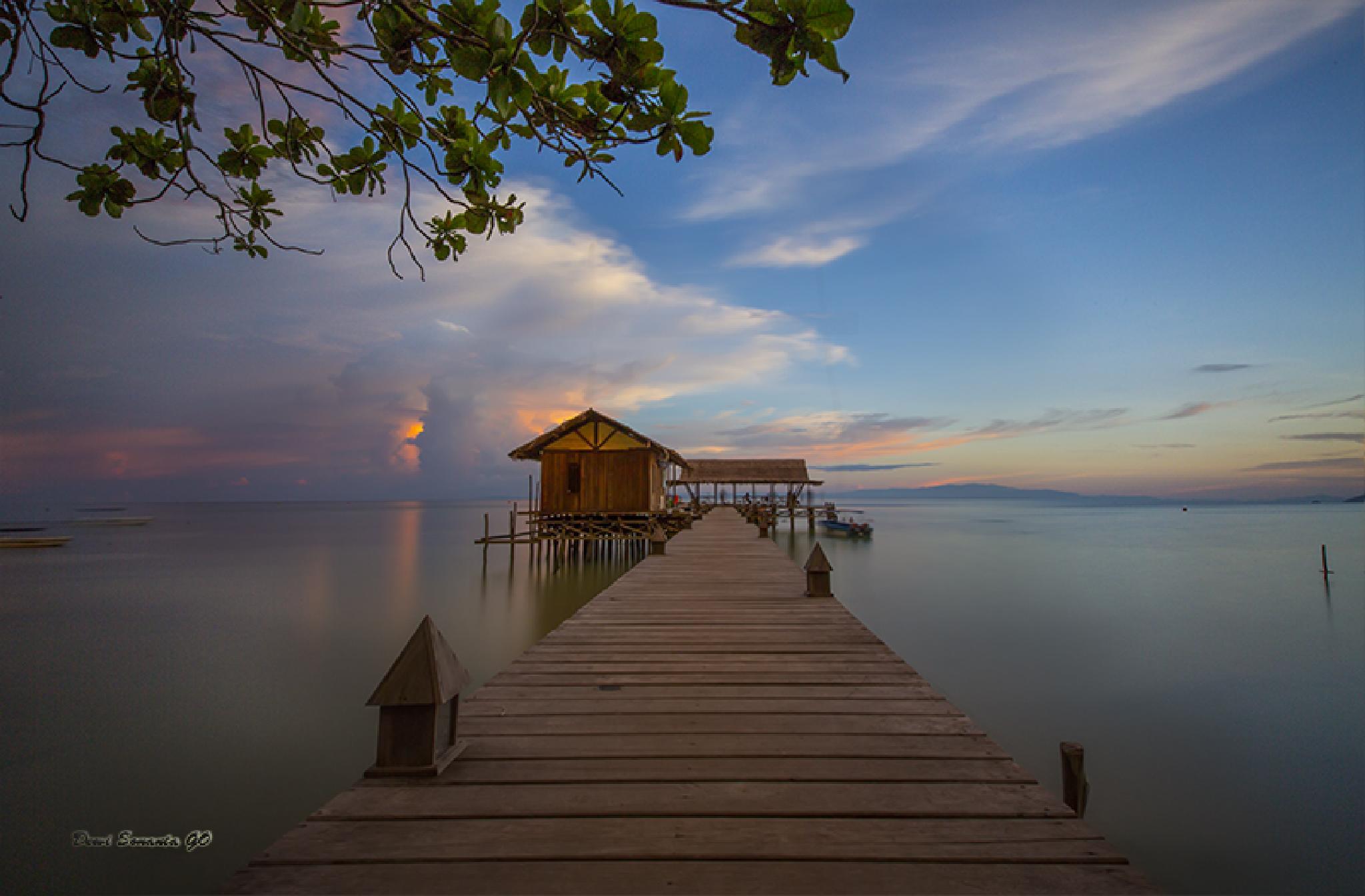 sunset at Raja Ampat. by Go Dewi Sonanta / Song Song