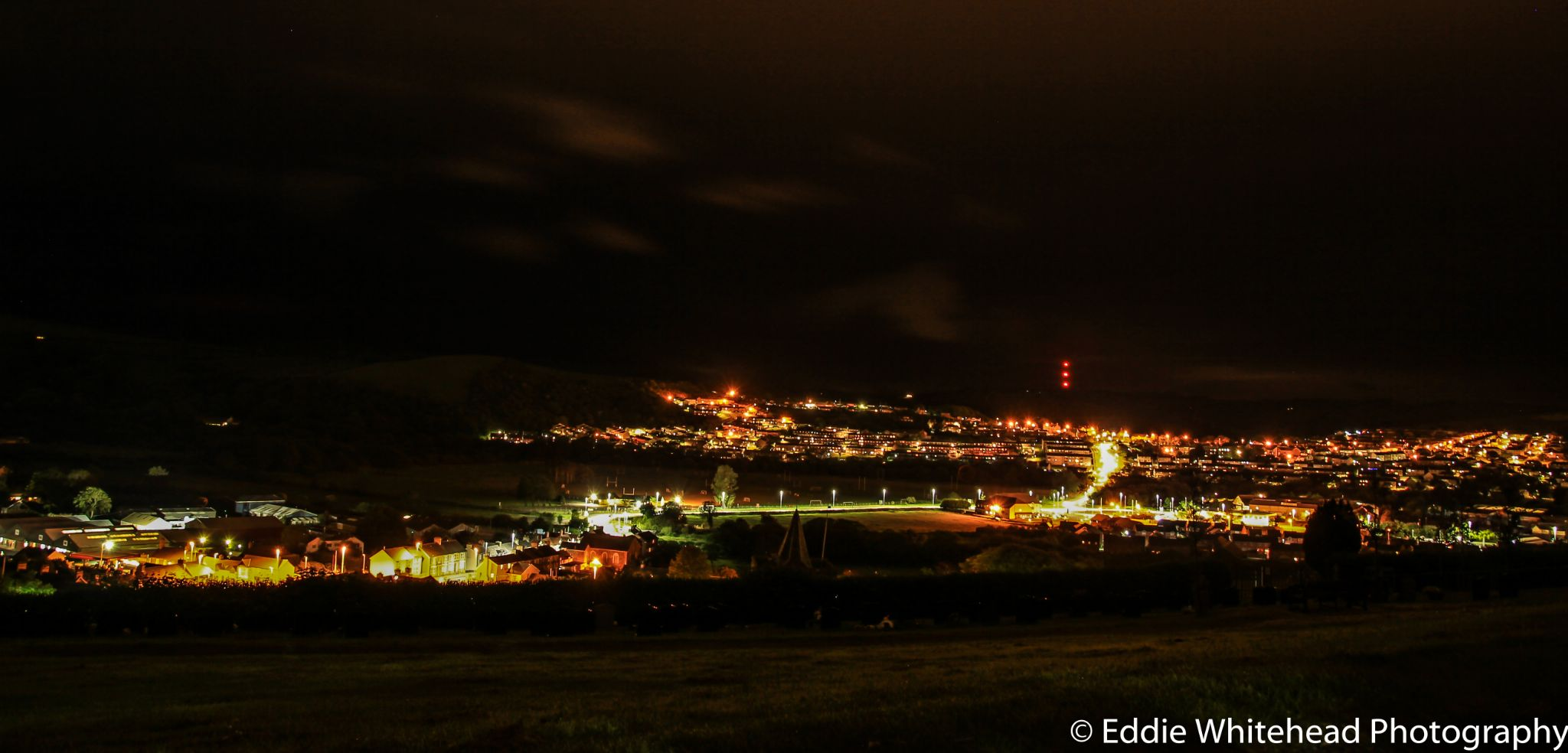 Looking over Aberystwyth by eddiewhiteheadphotography