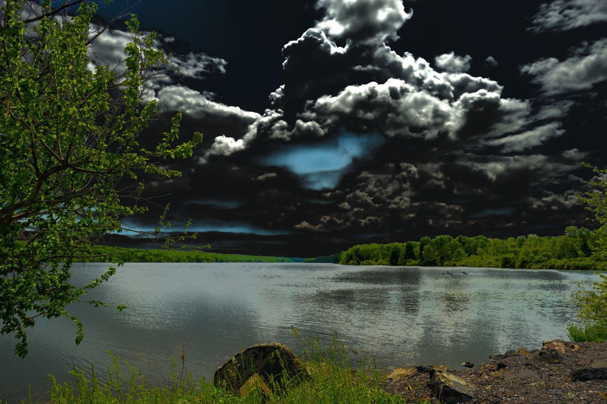 Nokamixon State Park - brooding sky by Second-Glimpse Photography