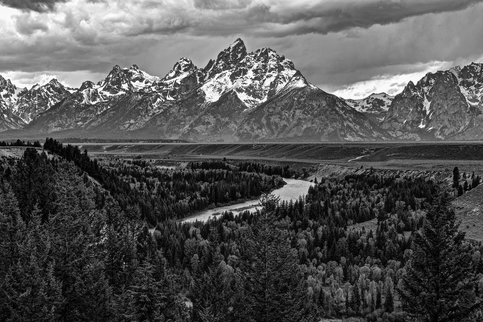 Grand Teton View With Valley by Steve Aicinena