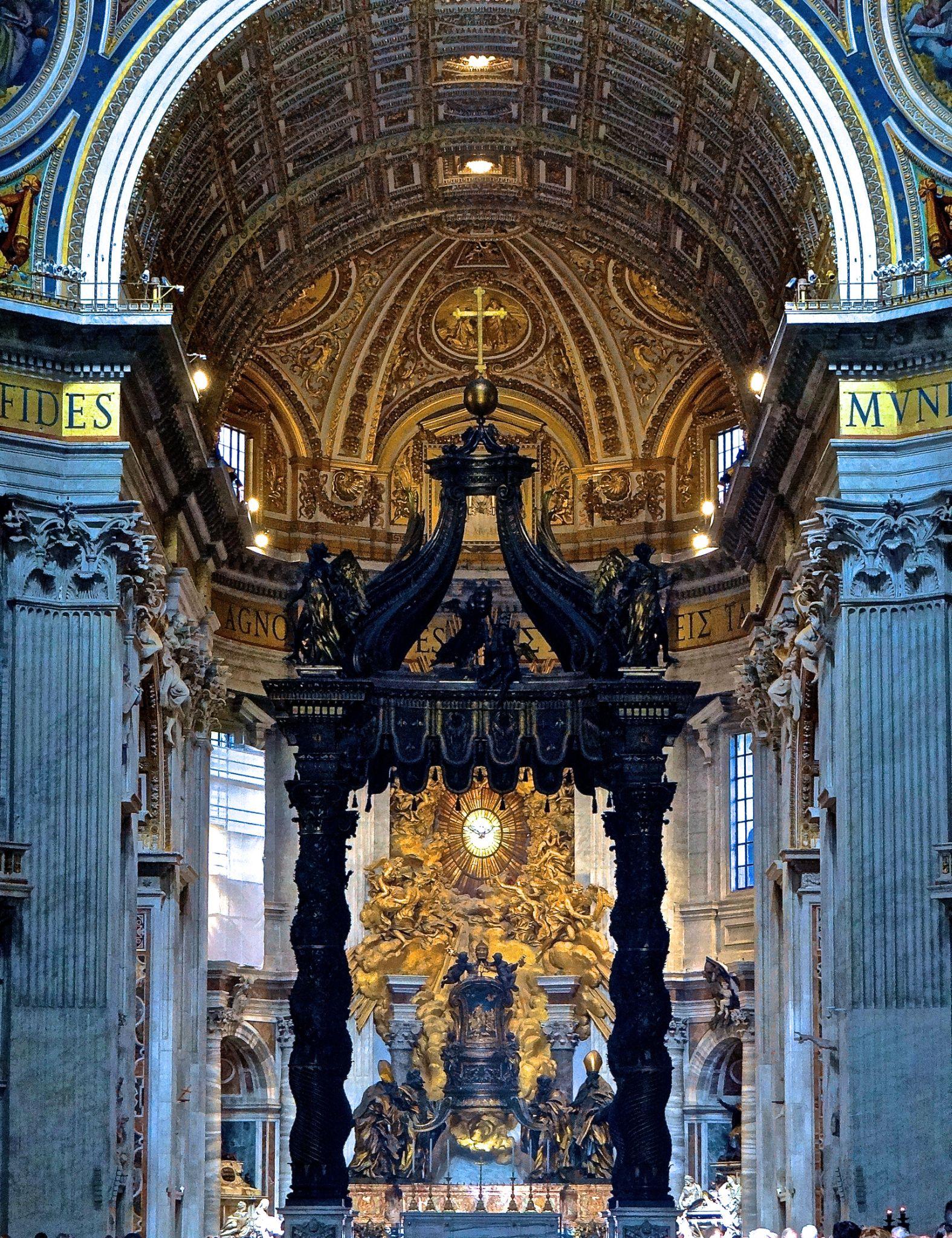 St. Peter's Altar - Vatican by Steve Aicinena