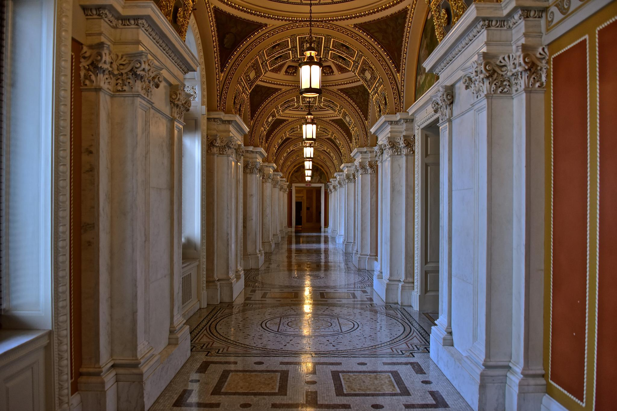Library of Congress Hallway by Steve Aicinena