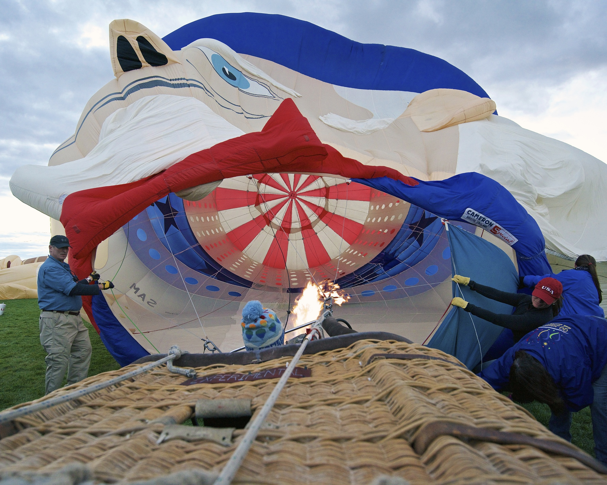 Inflating Uncle Sam by Steve Aicinena