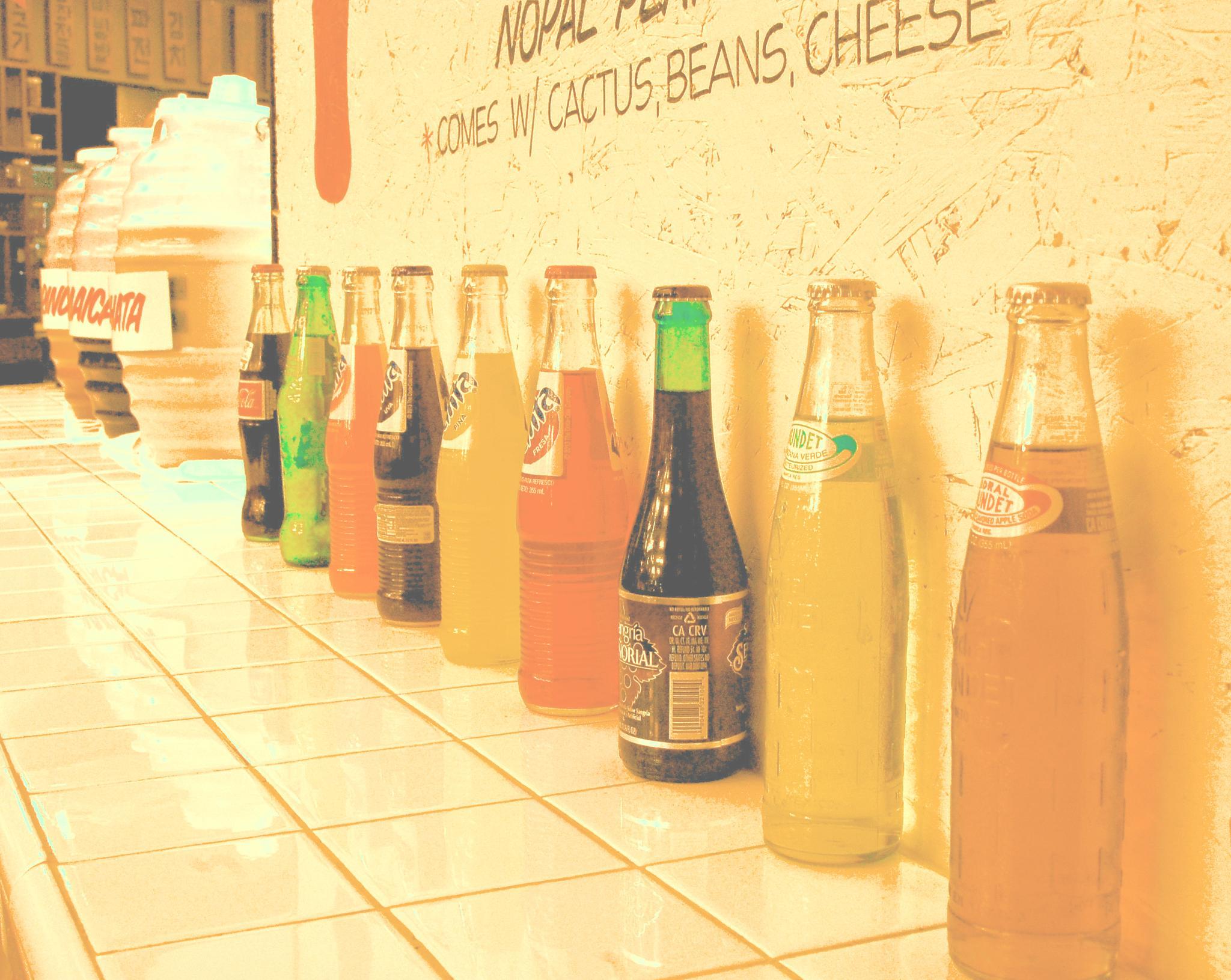 Photo in Food #fizzy #drink #bokeh #soda #viva #comida #nikon #bebida #food #restaurant #faded #orange #mexico #latin #spanish #tacos
