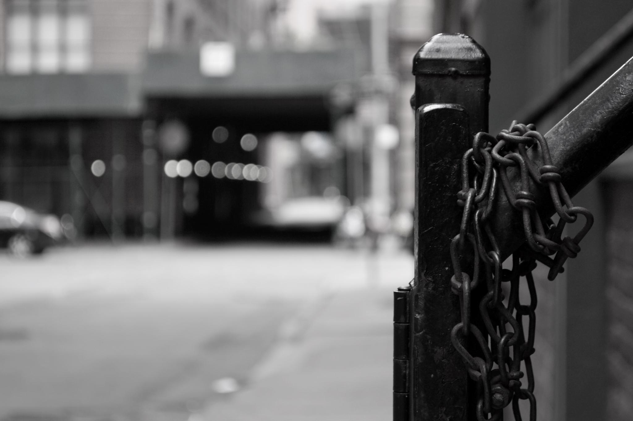Photo in Black and White #starway #street #city #hot #summer #no people #car #sun #light #shadow #avenue #urban #black #white #nikon #bokeh