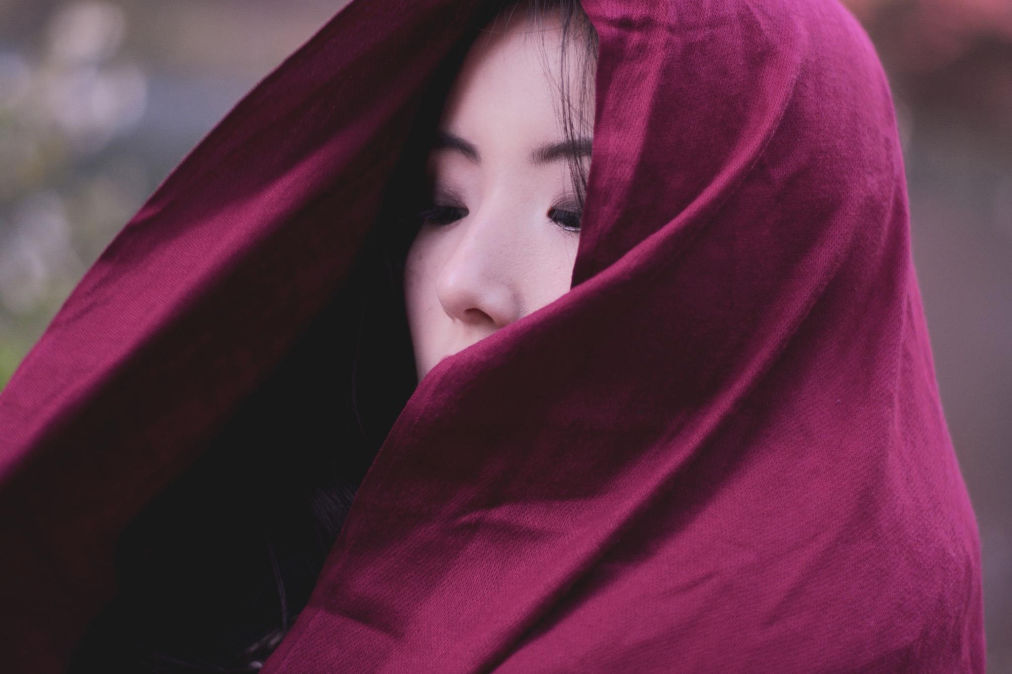 Ah..girl in red by Yoko D