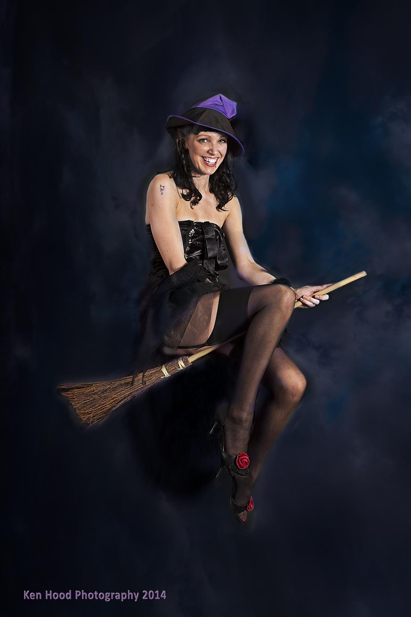 Photo in People #witch #broomstick #flying #naughty #gil elvgren #riding high #1959