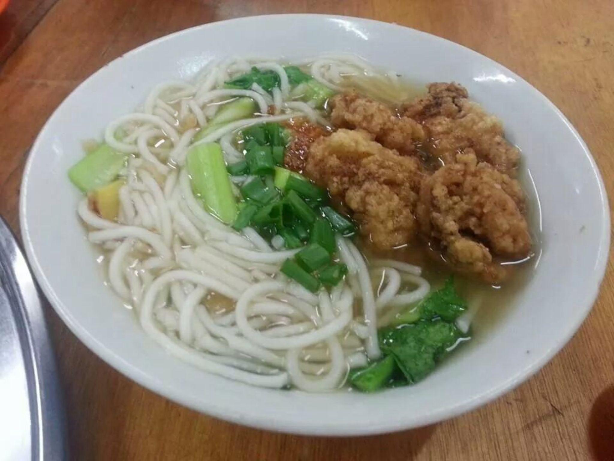 Fried fish meat noodles by stefnigel