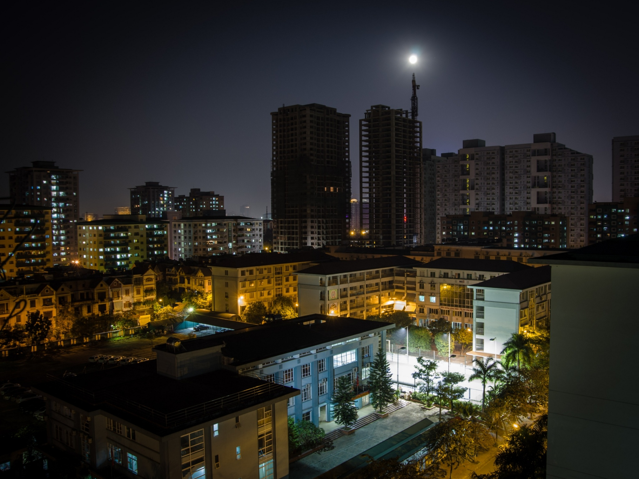 Full moon view from my balcony by Cuong NM