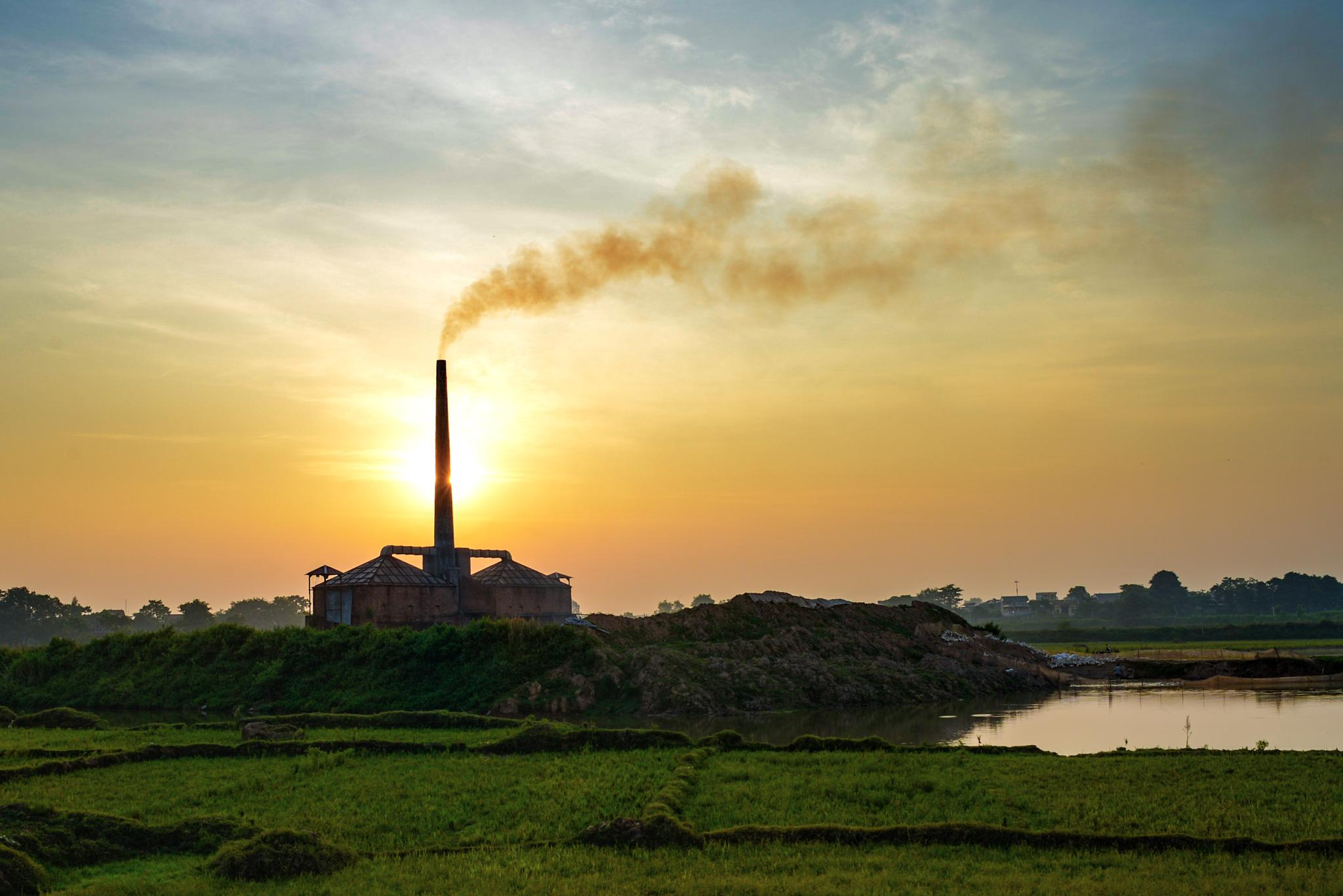 Sunrise from a brick factory by Cuong NM