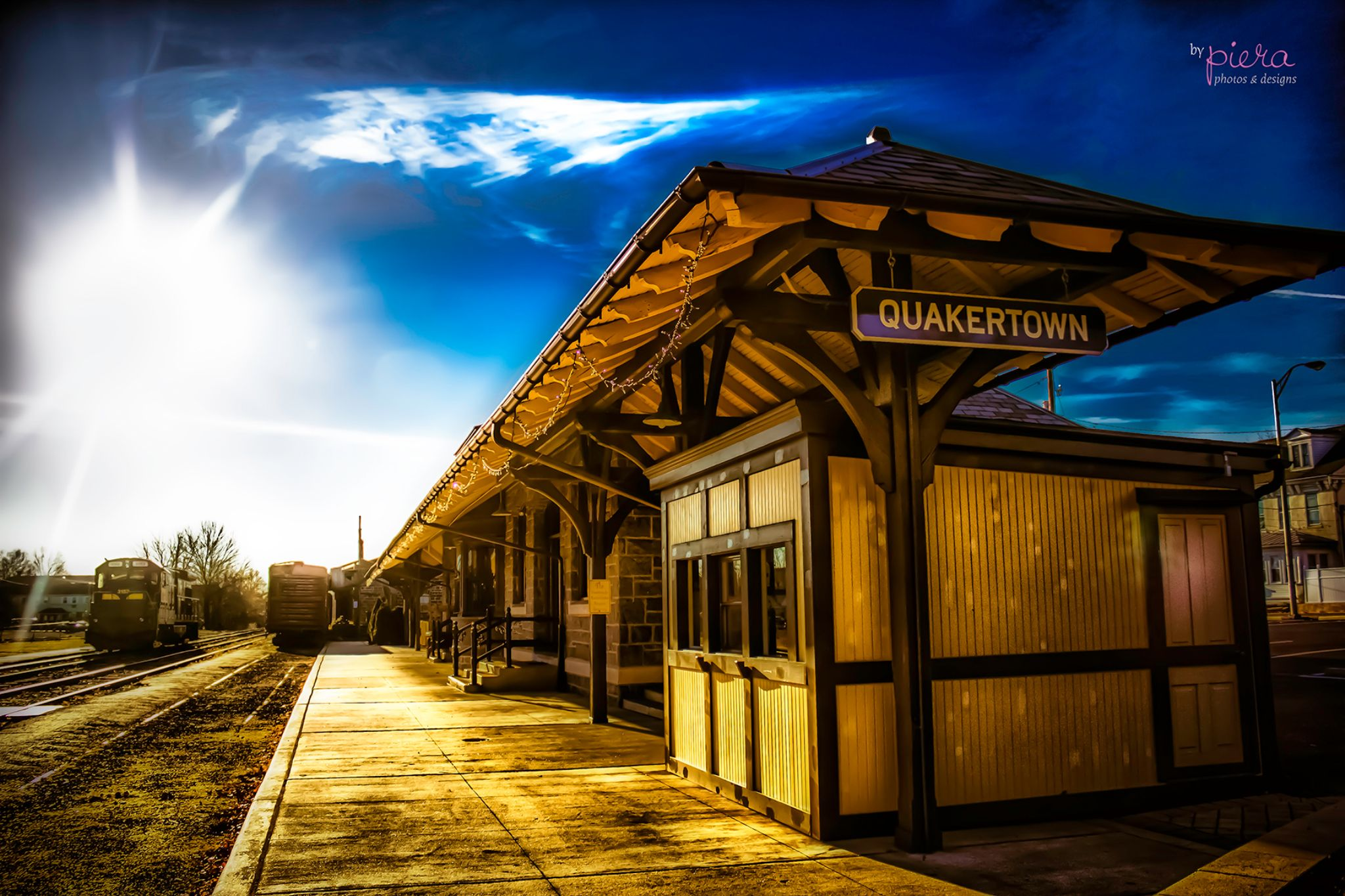Quakertown Historical Railroad Station by Photos by Piera