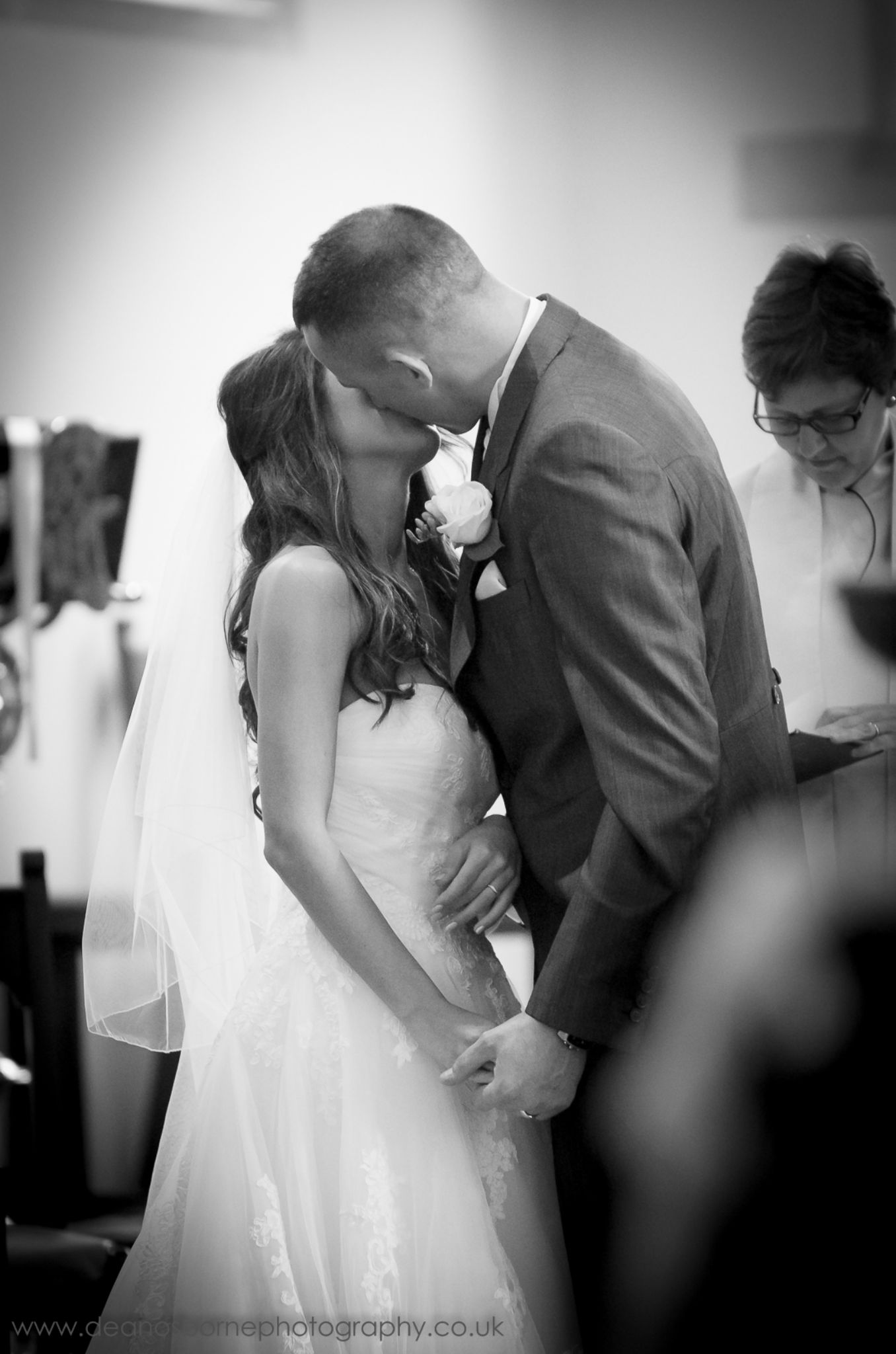 Bride and Groom first kiss by Dean Osborne