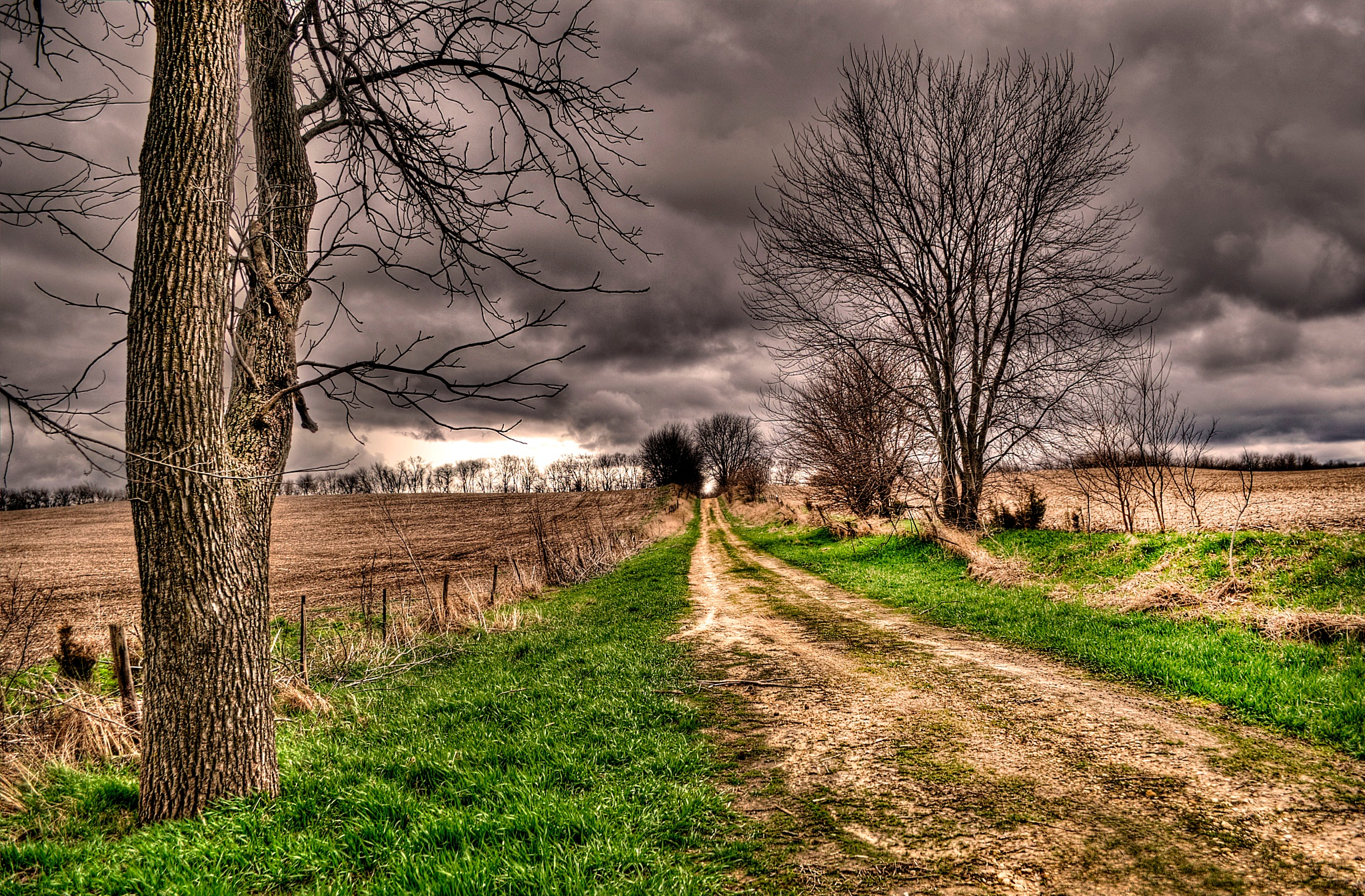 Stormy Country Lane by J. Philip Larson Photography