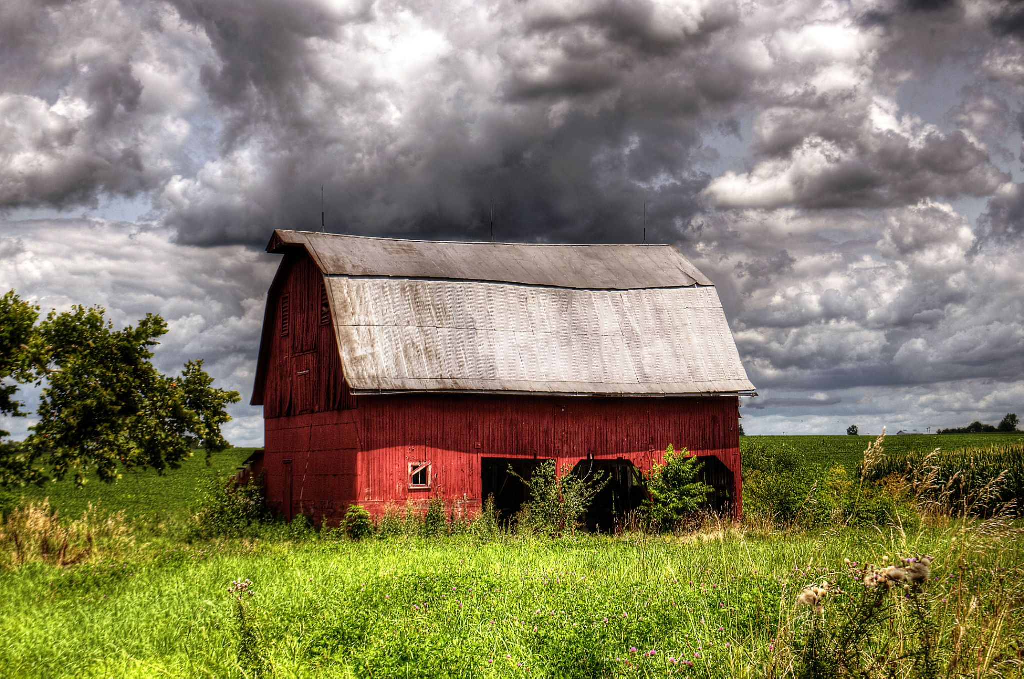 Old Red Barn by J. Philip Larson Photography