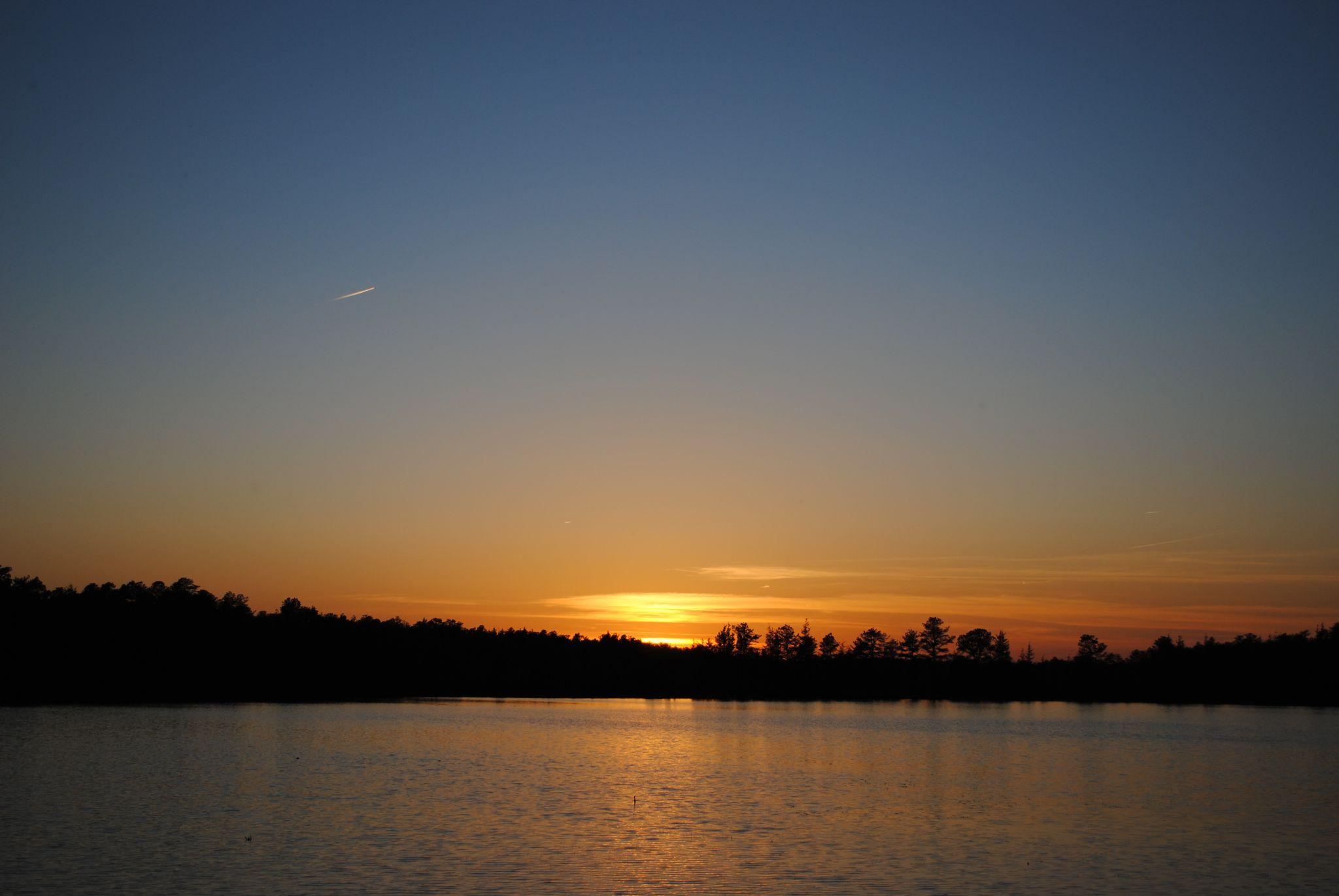 Sun Set at the lake by Desiree N