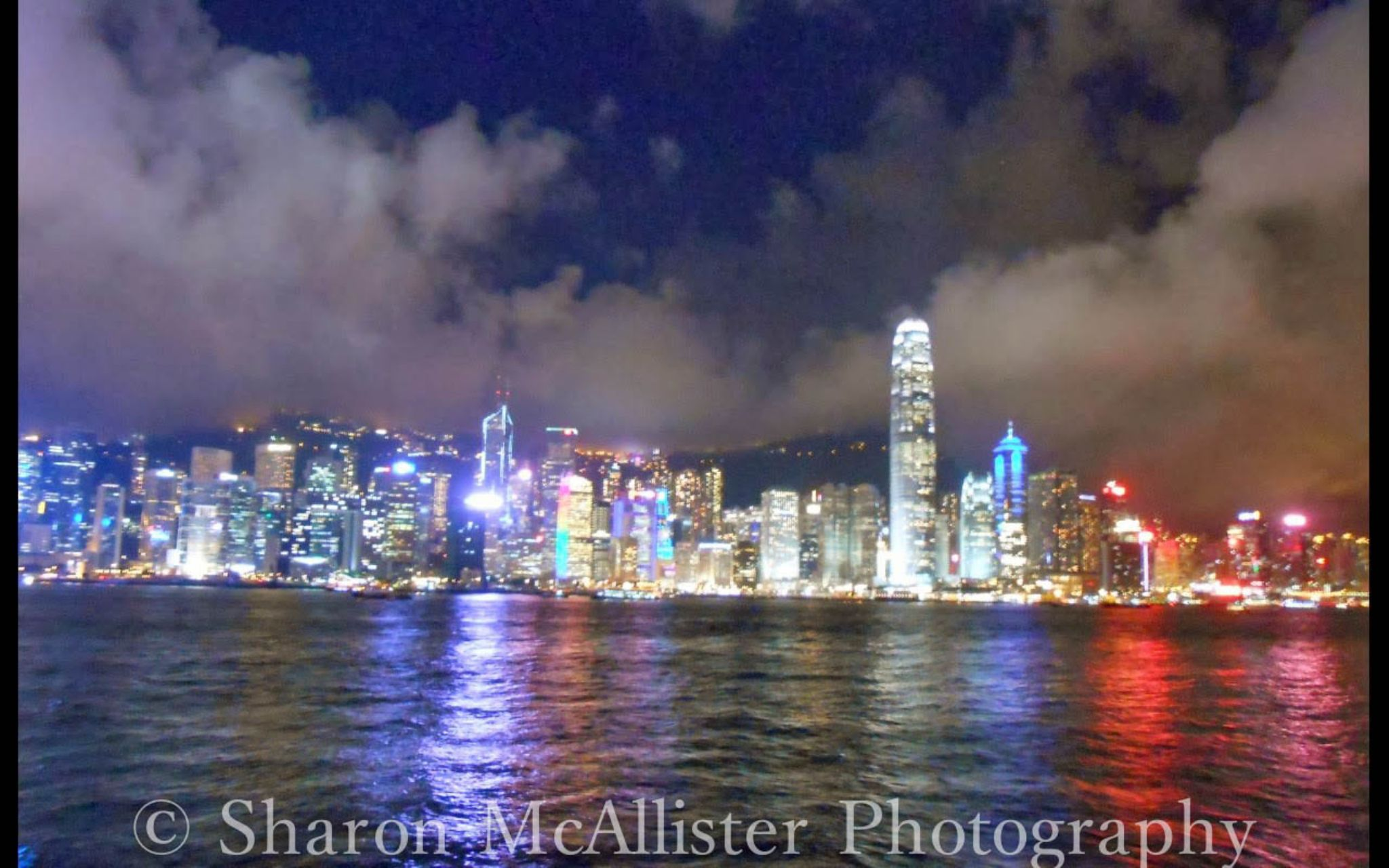 Hong Kong at Night by Sharon McAllister