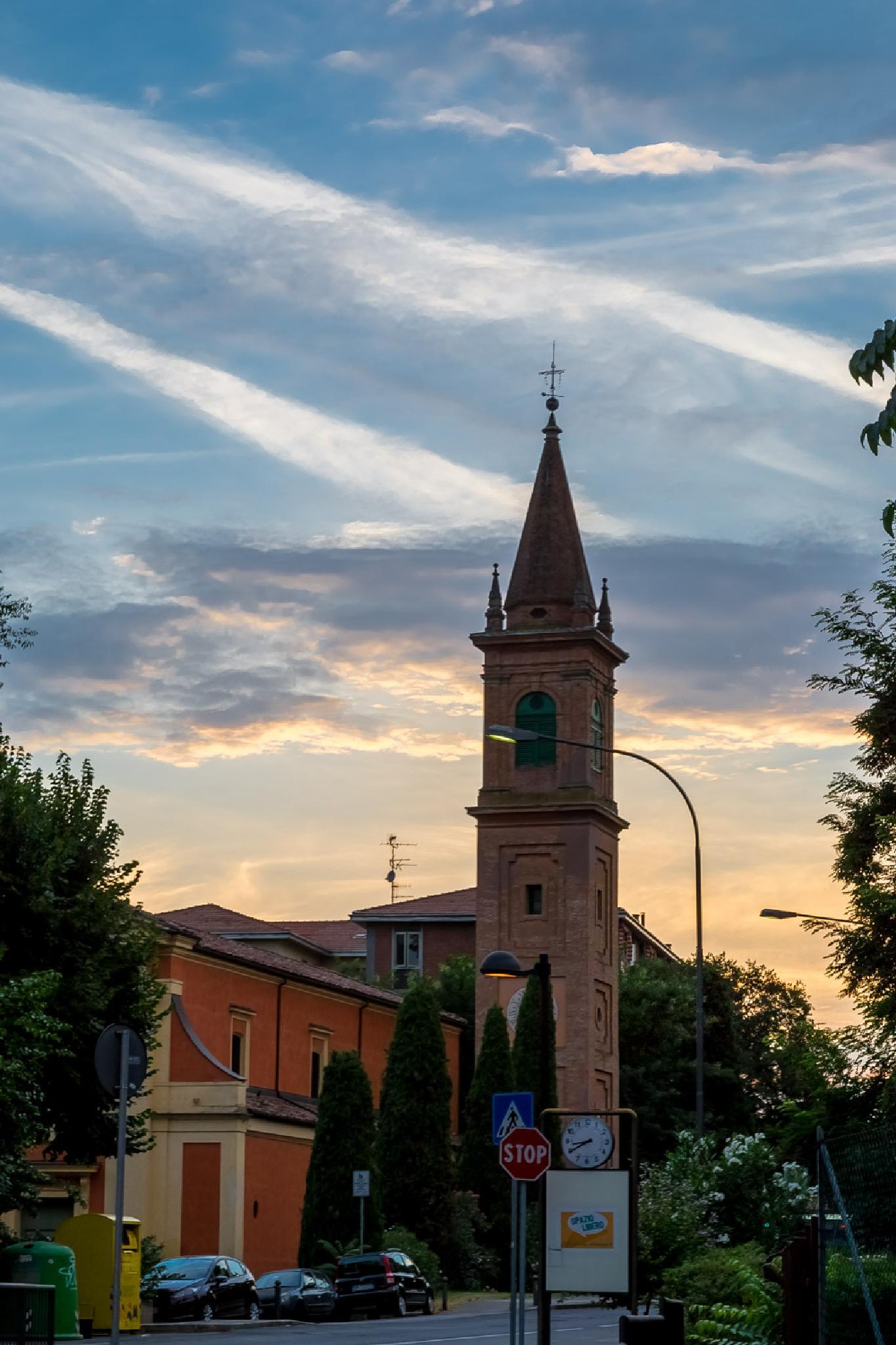 Sunset in #Casalecchio near #Bologna - Tramonto by marco.baciocchi