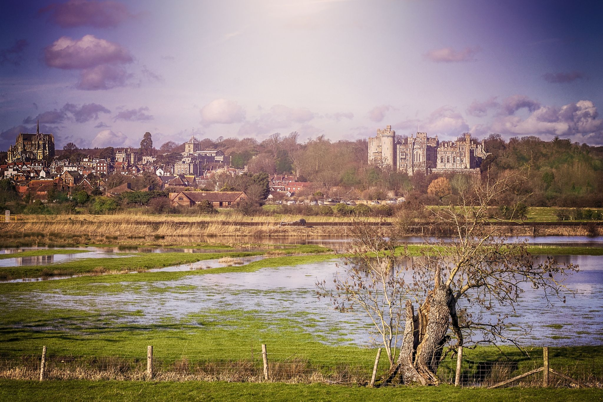 Arundel Castle and Cathedral by tonyrabina