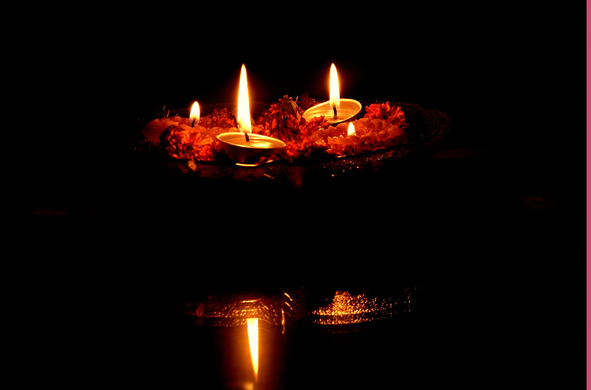 Floating Candles!!! by mrinalinilingwal