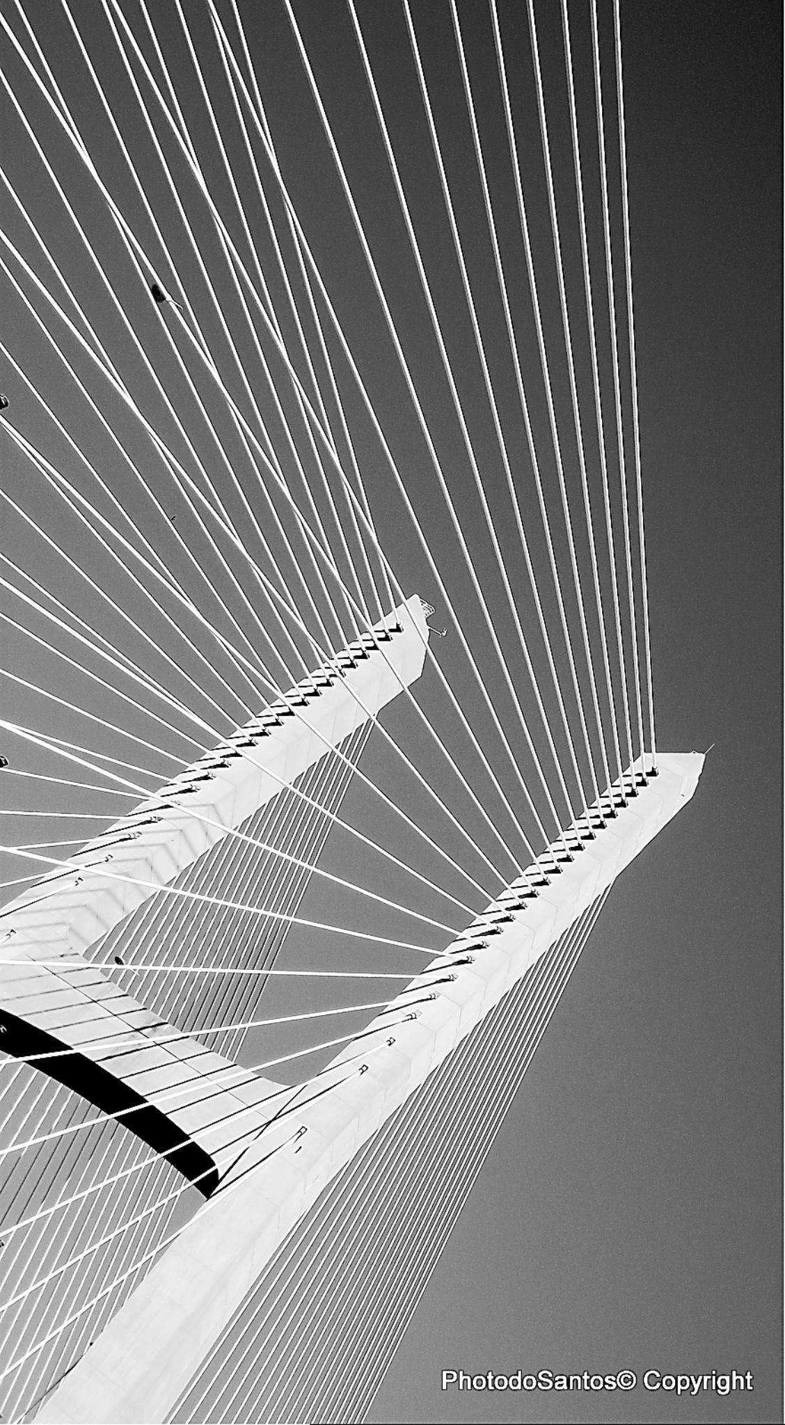 Bridge over troubled sky by Ricardo Santos