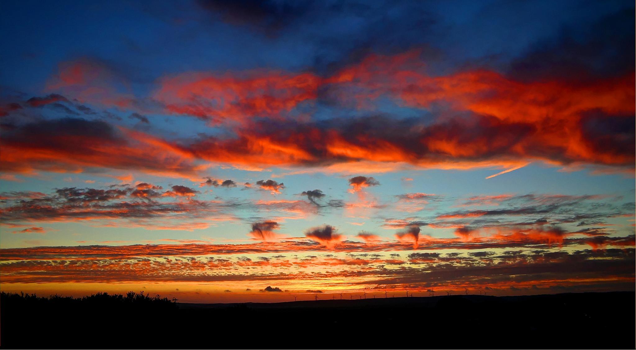 Red blue sky by Ricardo Santos