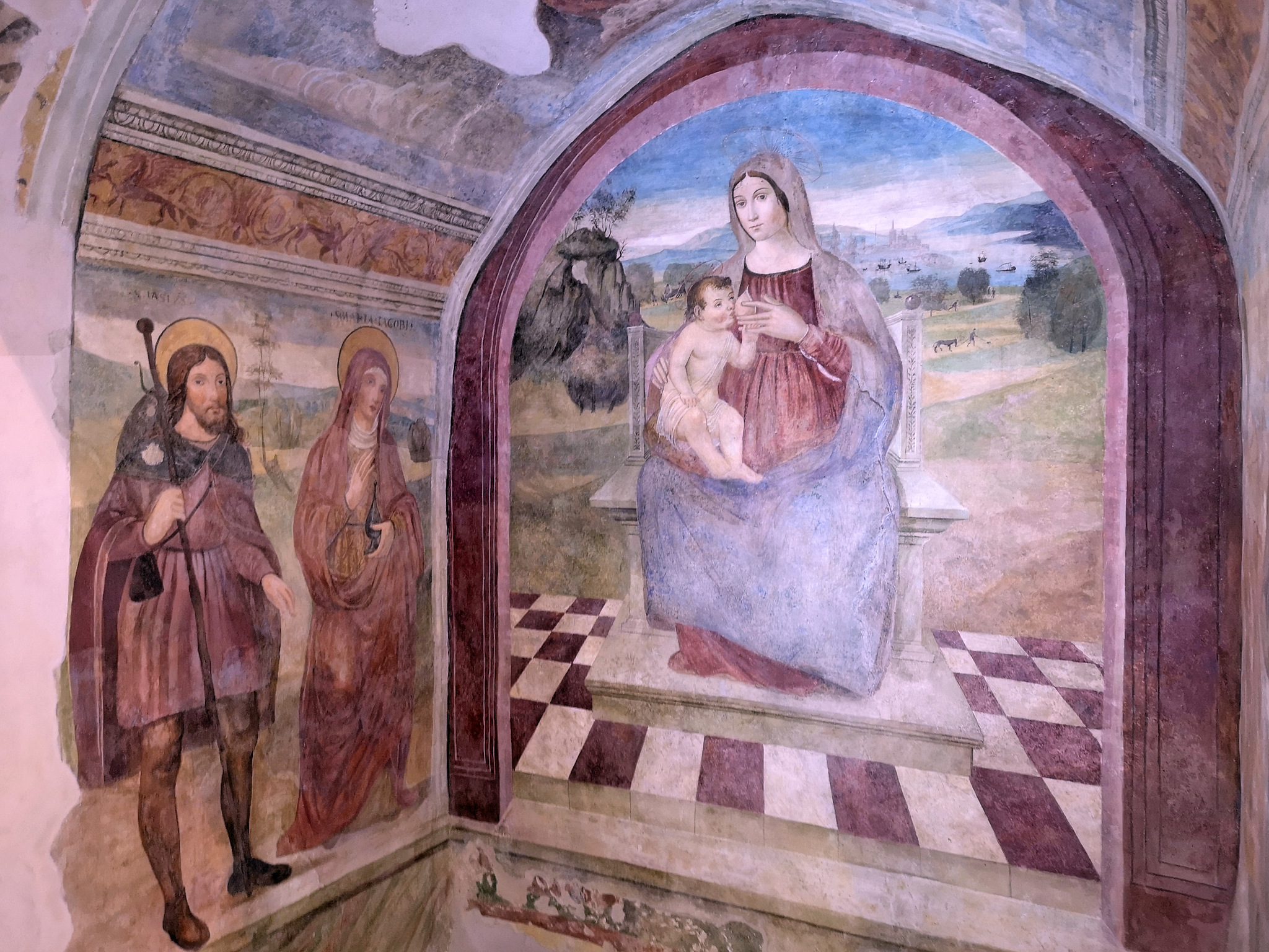 Cona di San Mauro - Madonna del latte by Pietro Scerrato