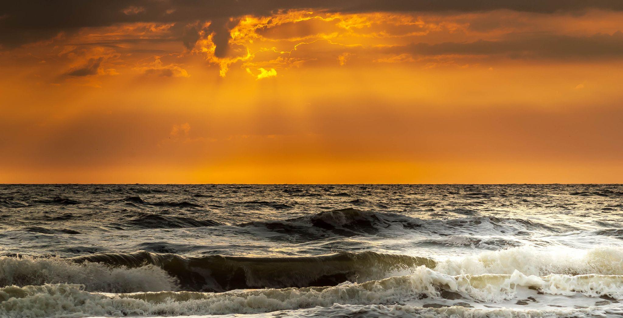 sunset over sea  by norbert.stojke