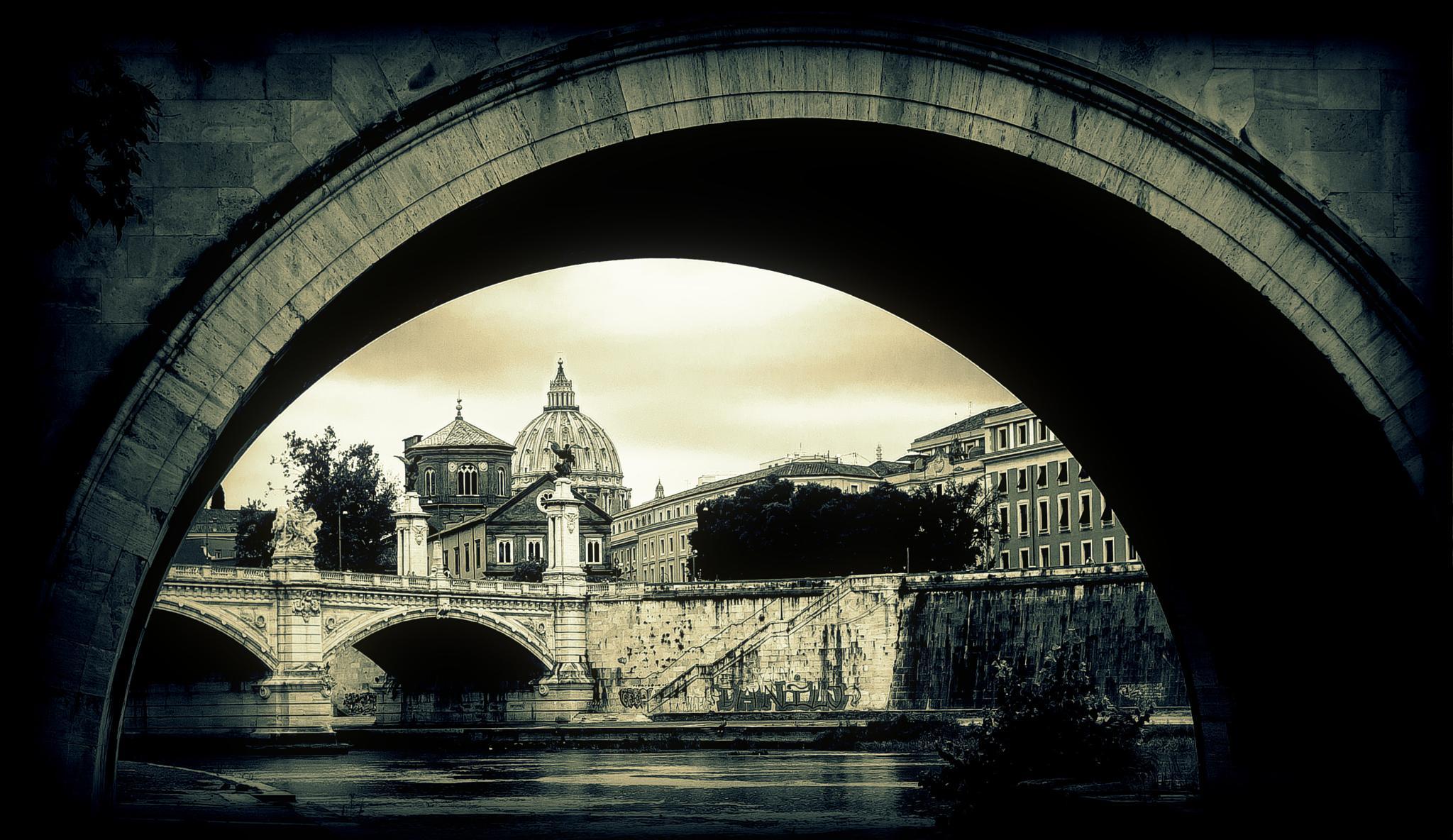 Photo in Travel #rome #italy #tiber #bridge