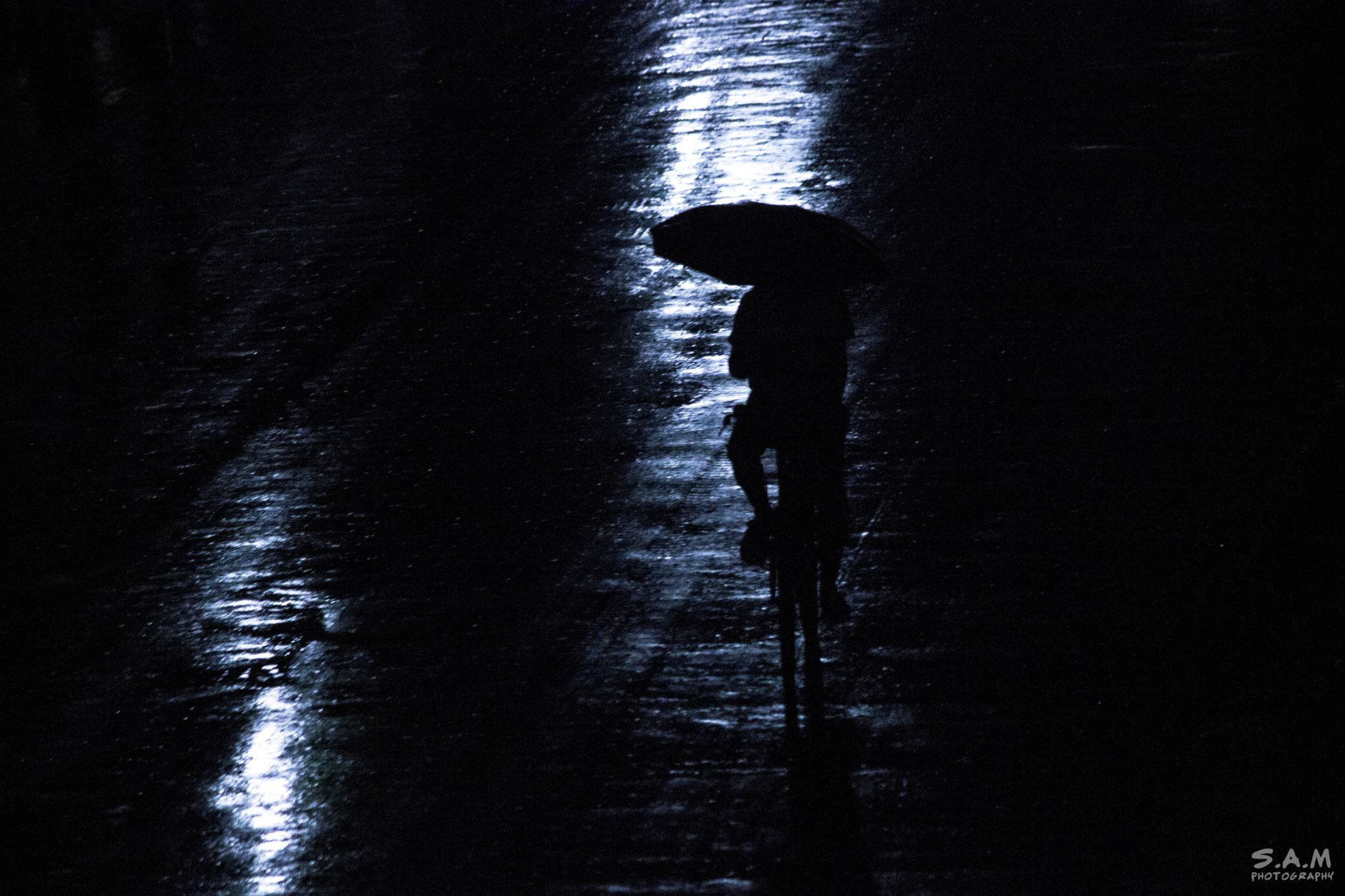 Man in the Rain by Some Aditya Mandal