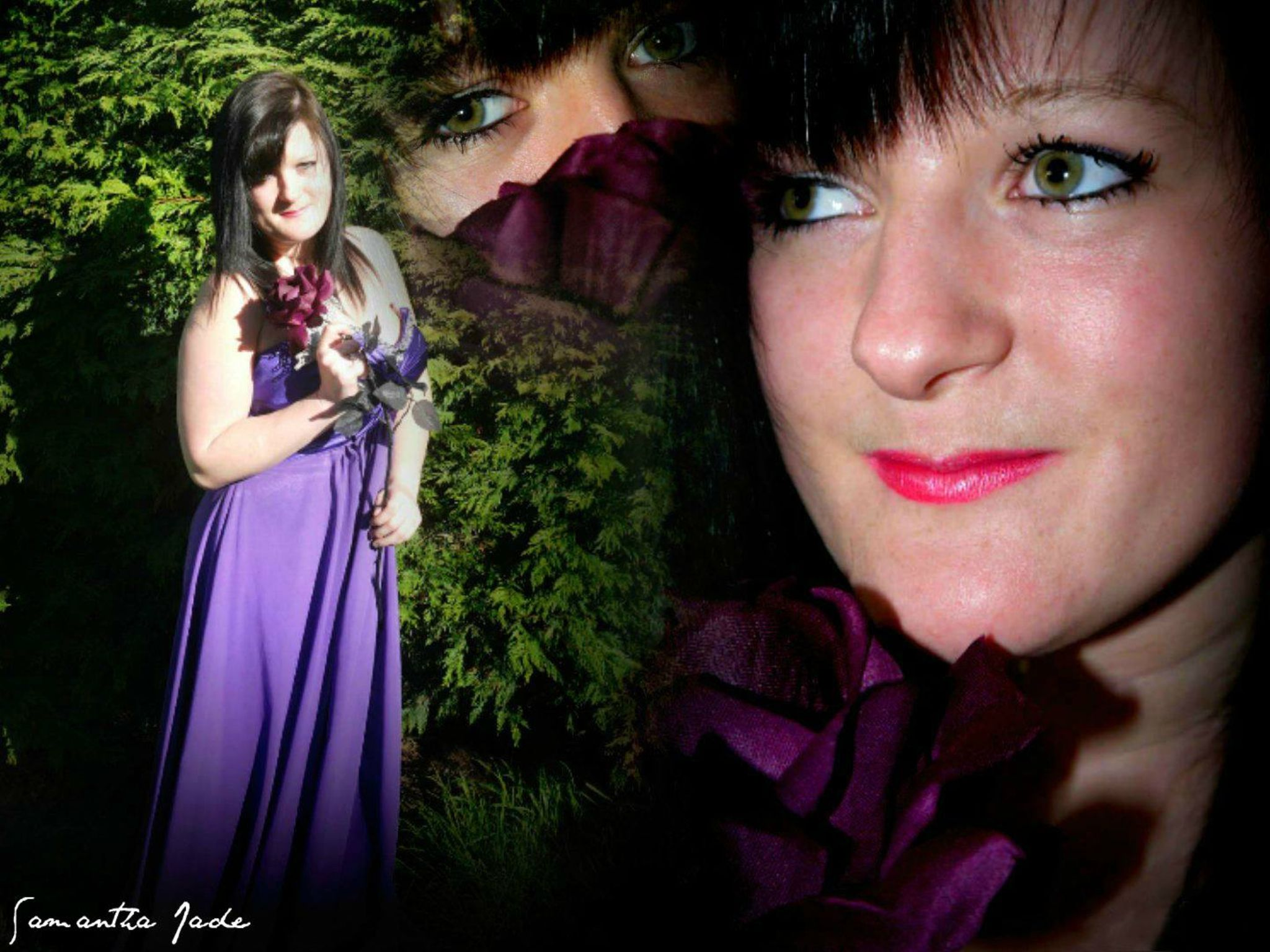 ** Lady In Purple Collage ** by samanthajade.smith.1