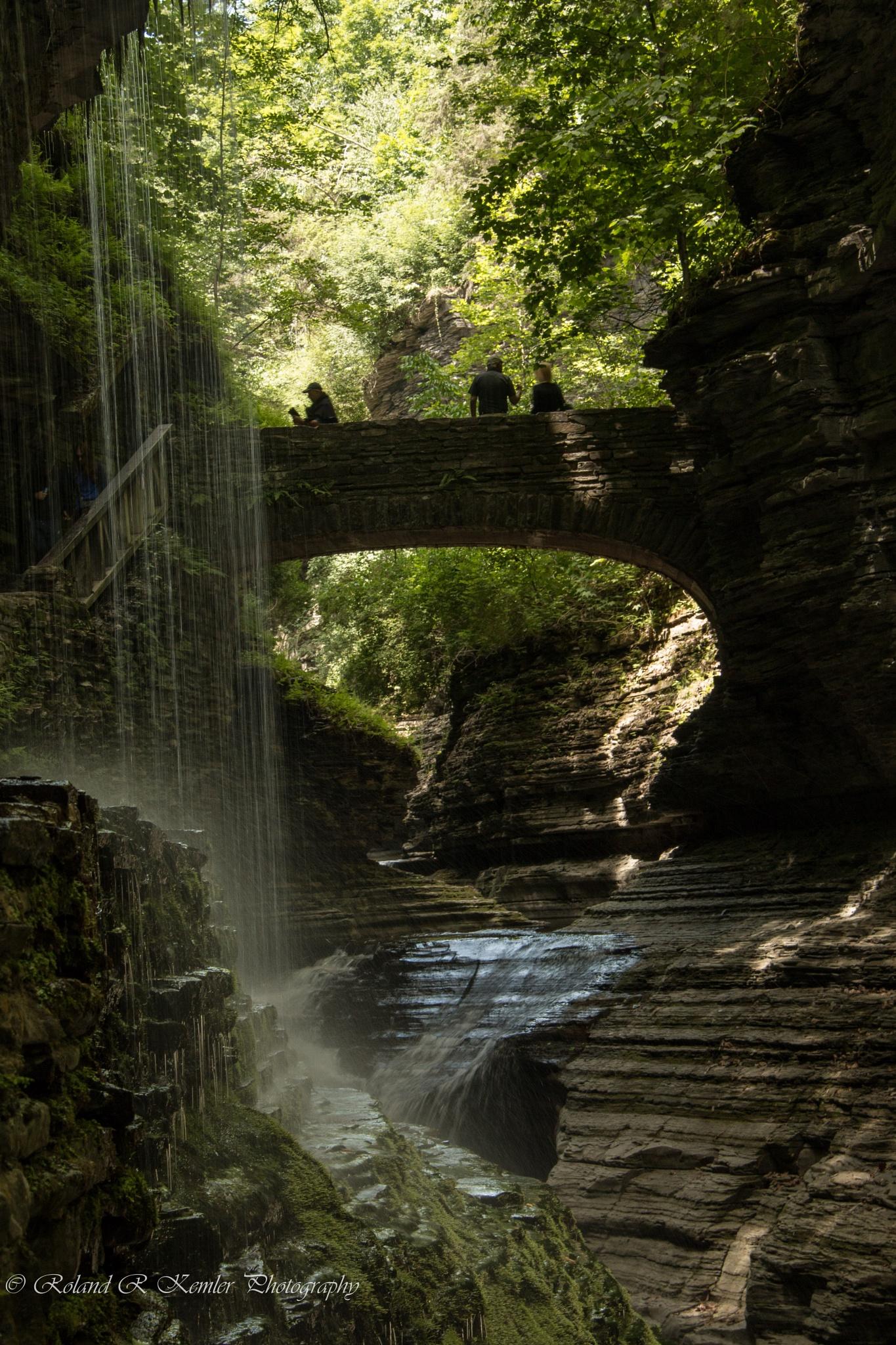 Watkins Glen State Park by Roland R Kemler