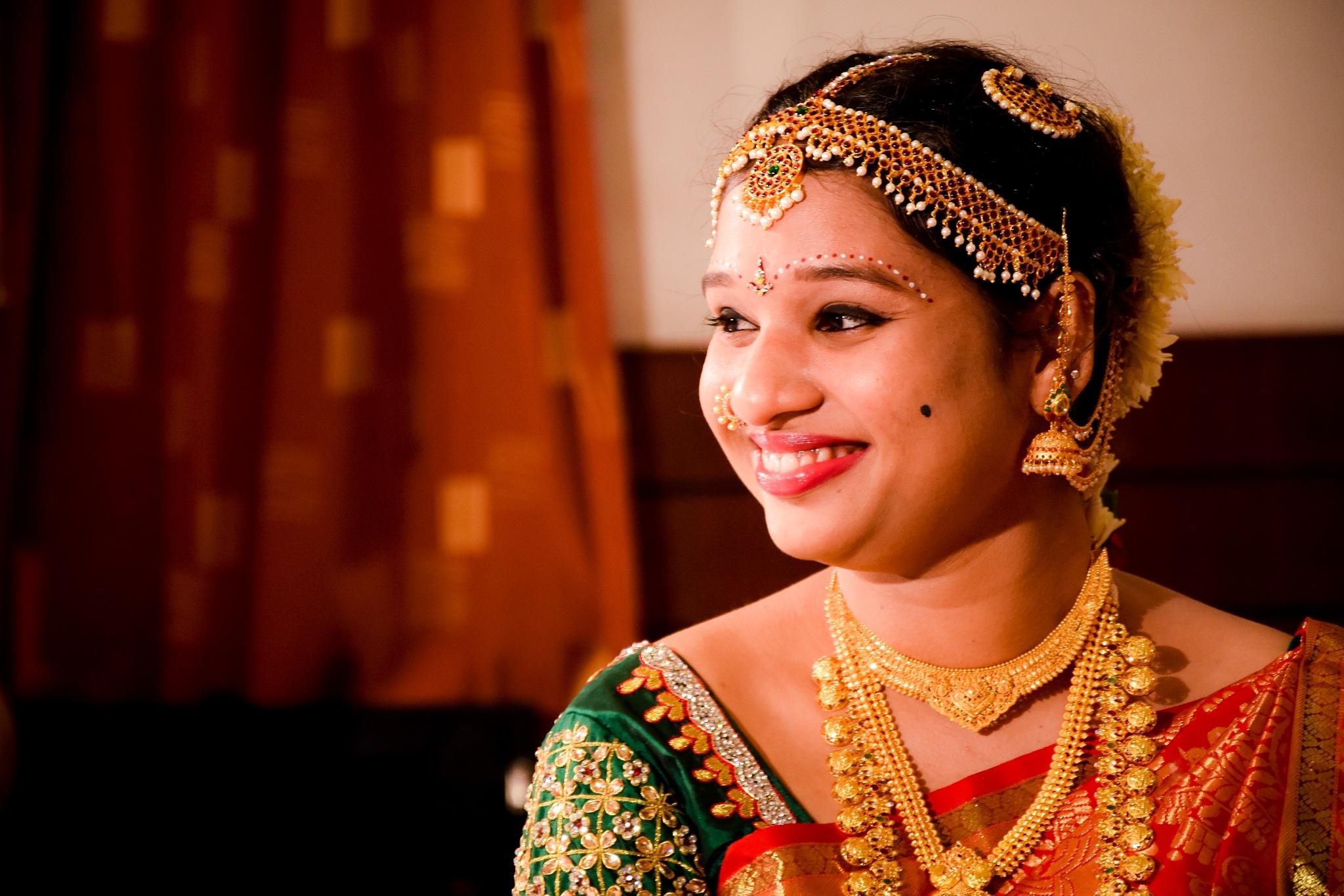 Happy Bride by GOK Photography