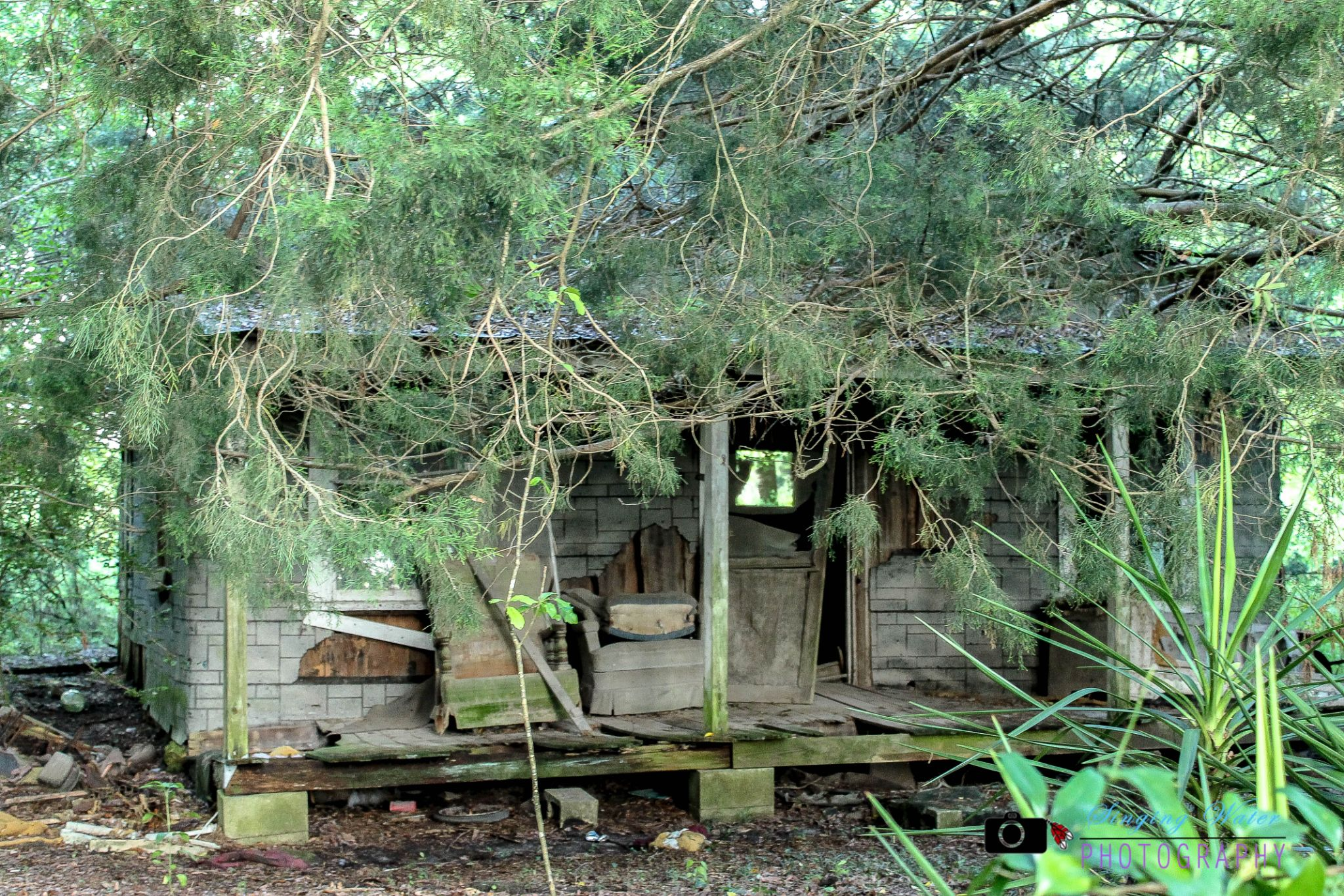 old chairs on the porch by singingwaterphotography