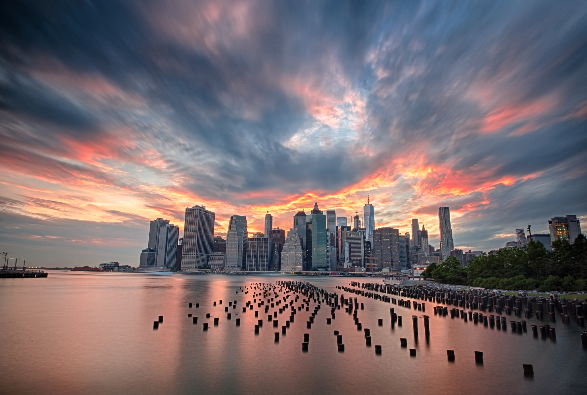 Burning Sunset over Manhattan by Raf Winterpacht