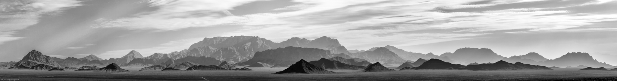 Desert Mountains (Panorama) by Cord von Limburg