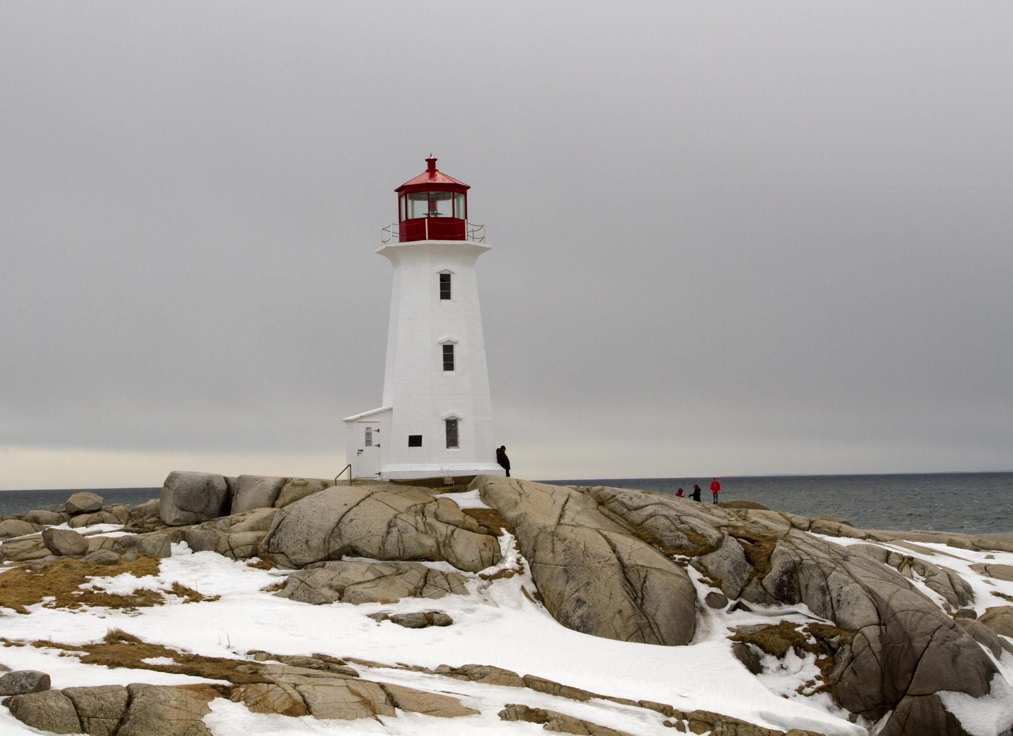 Peggys Cove Lighthouse by Joe Chrvala
