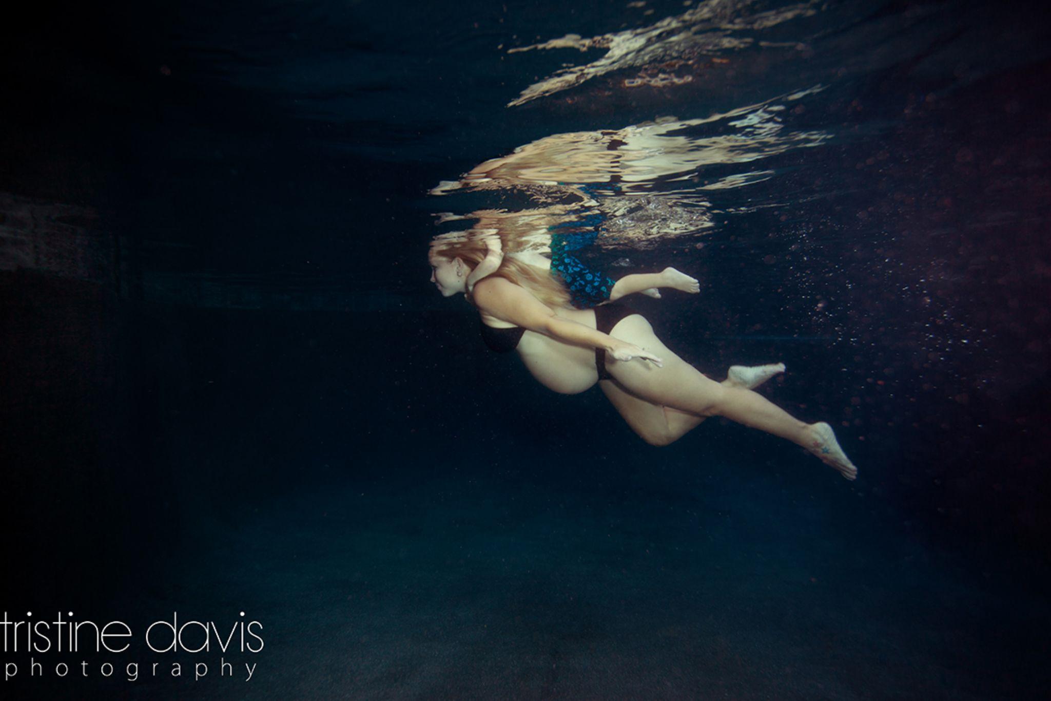 Underwater Maternity   www.tristinedavisphotography.com by Tristine Davis