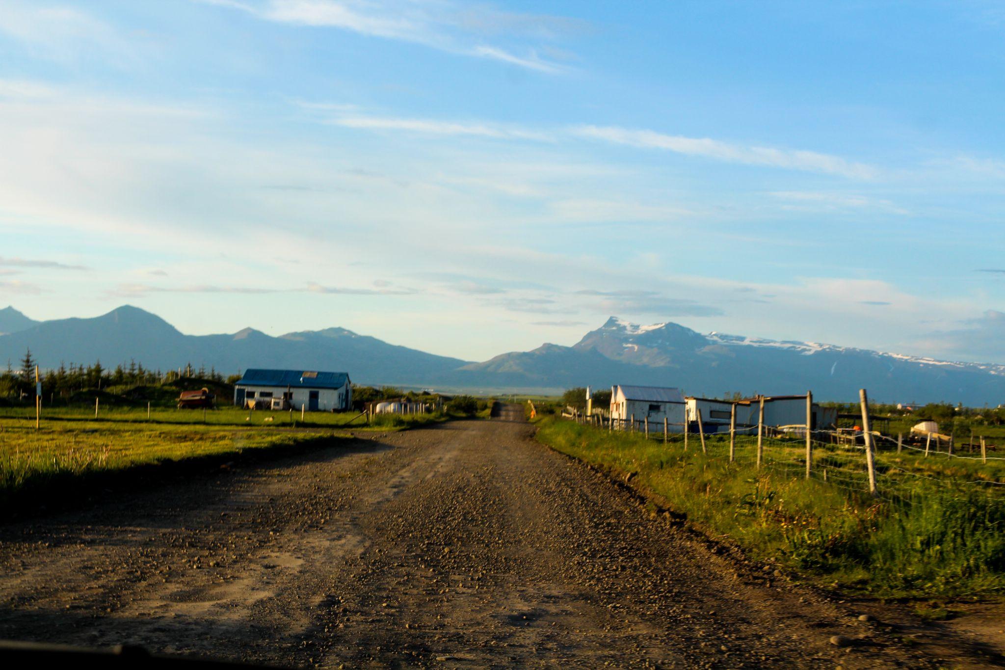 country road by Sigurdur Arni Dagbjartsson