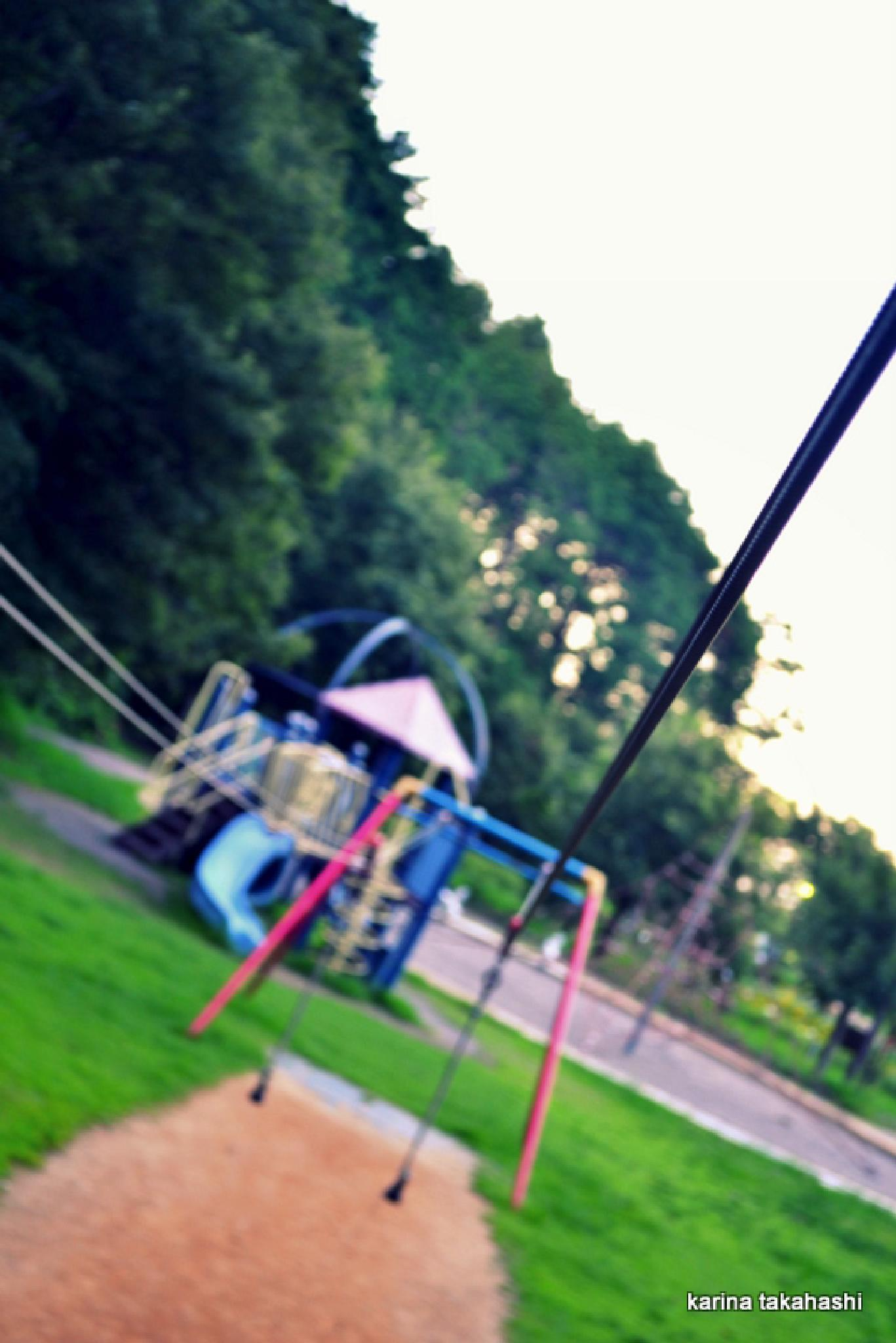 Abandoned playground by kao74
