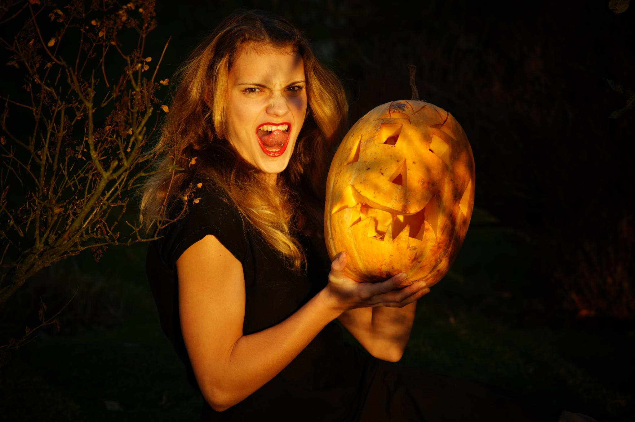 Photo in Portrait #halloween caroline pumpkin